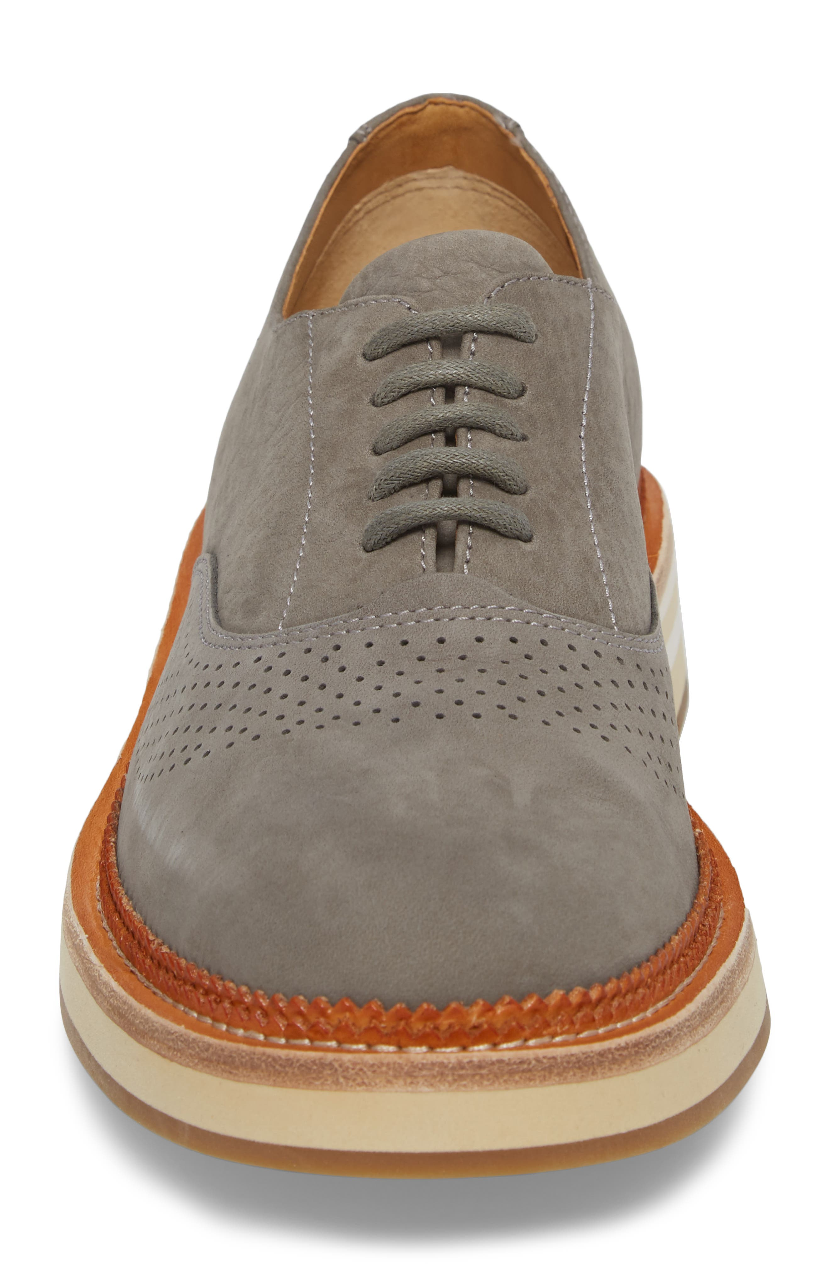 Cloud Perforated Oxford,                             Alternate thumbnail 4, color,                             Grey
