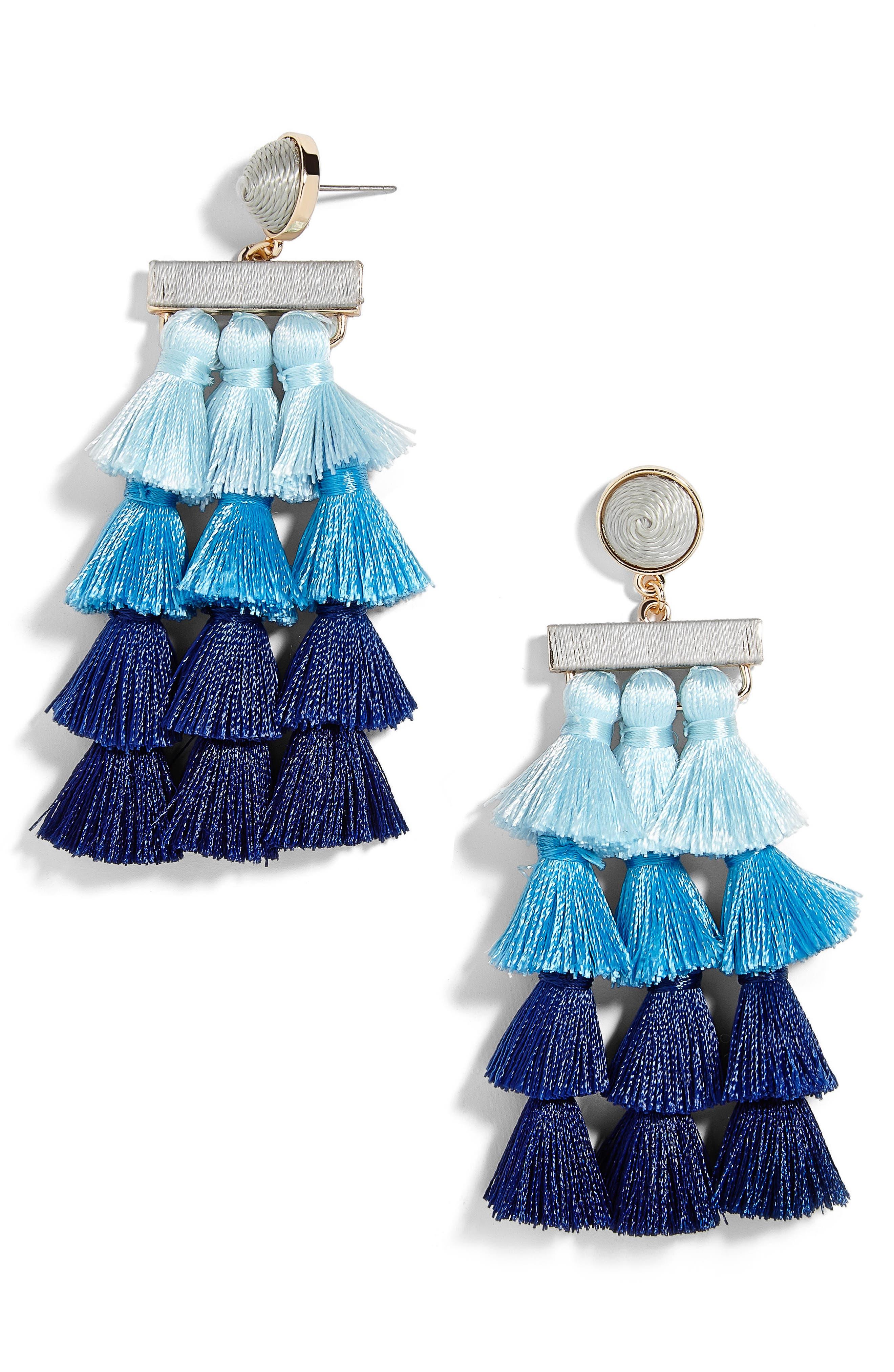 BaubleBar Sabriya Tassel Drop Earrings