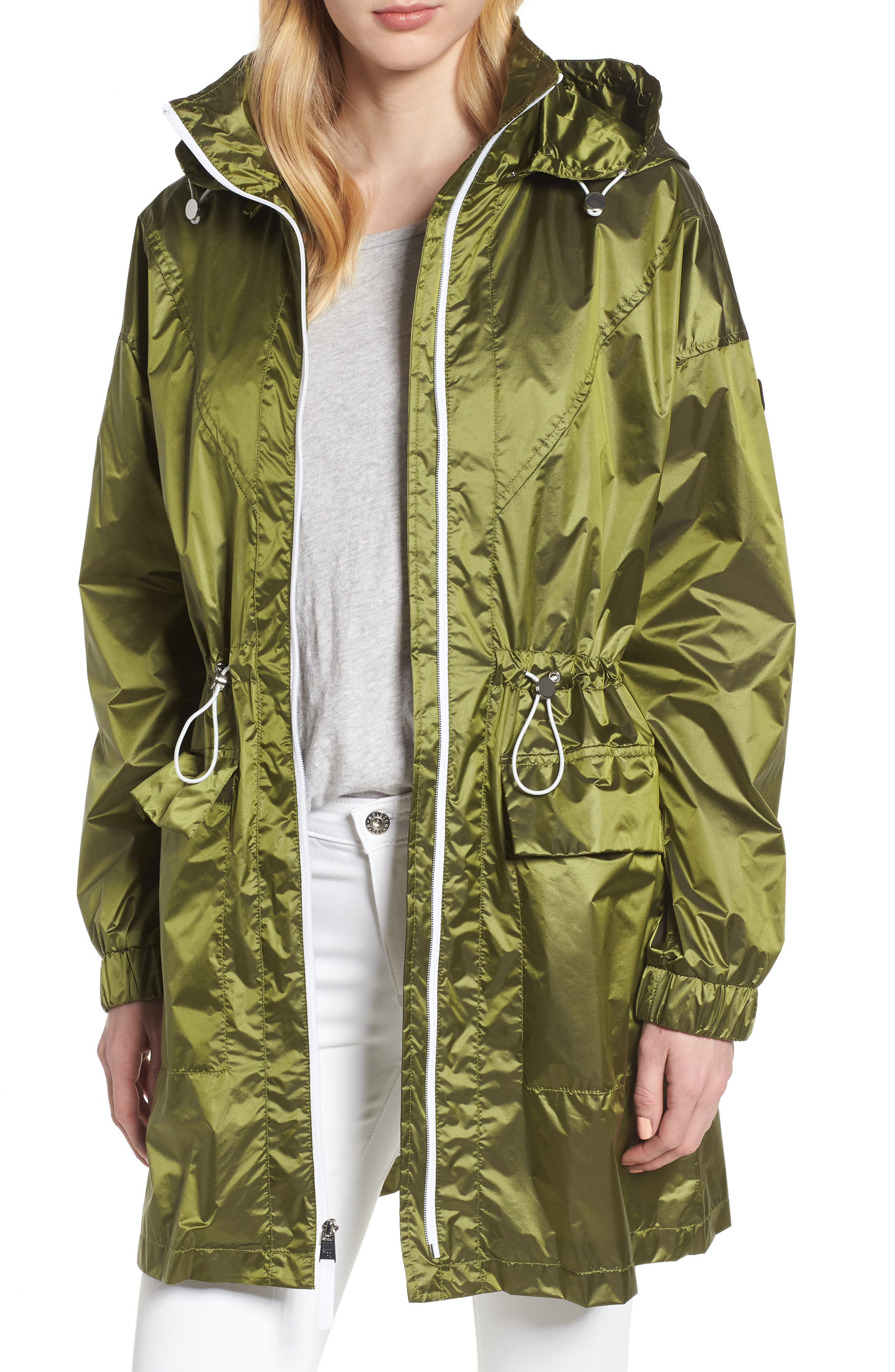 Contrast Zip Anorak Jacket,                             Main thumbnail 1, color,                             Green