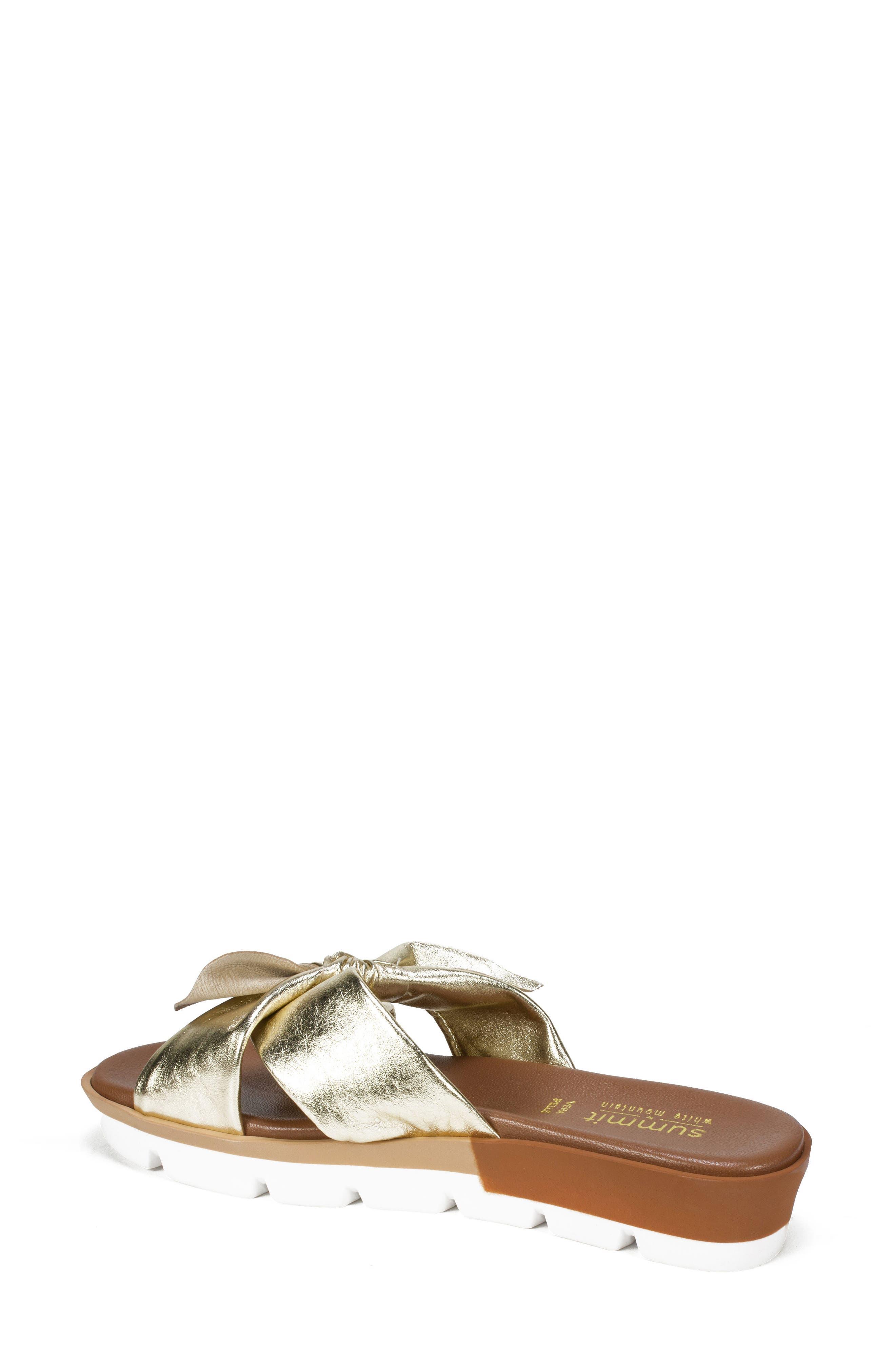 Fynn Slide Sandal,                             Alternate thumbnail 2, color,                             Platinum Leather