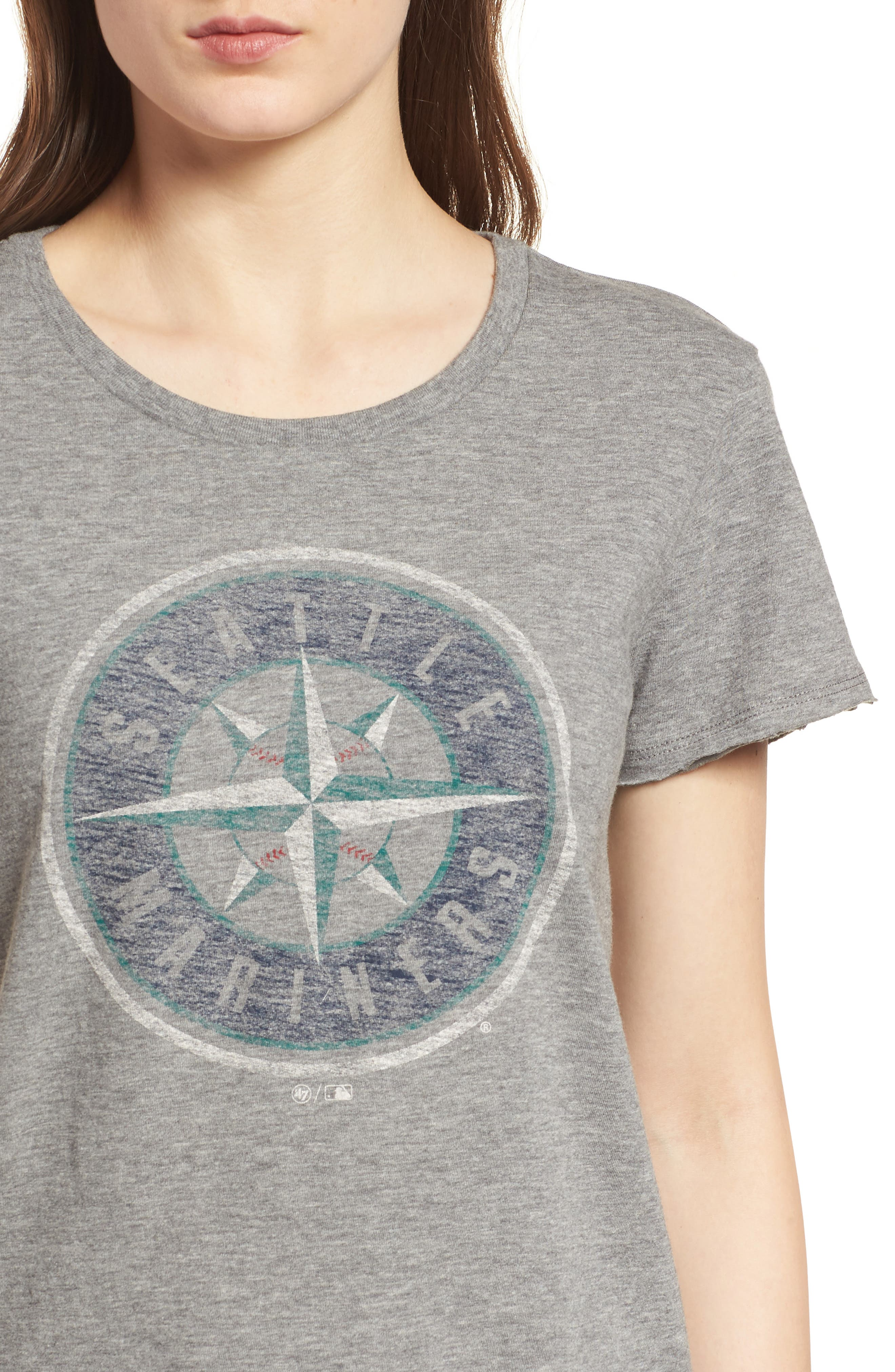 Seattle Mariners Fader Letter Tee,                             Alternate thumbnail 4, color,                             Slate Grey