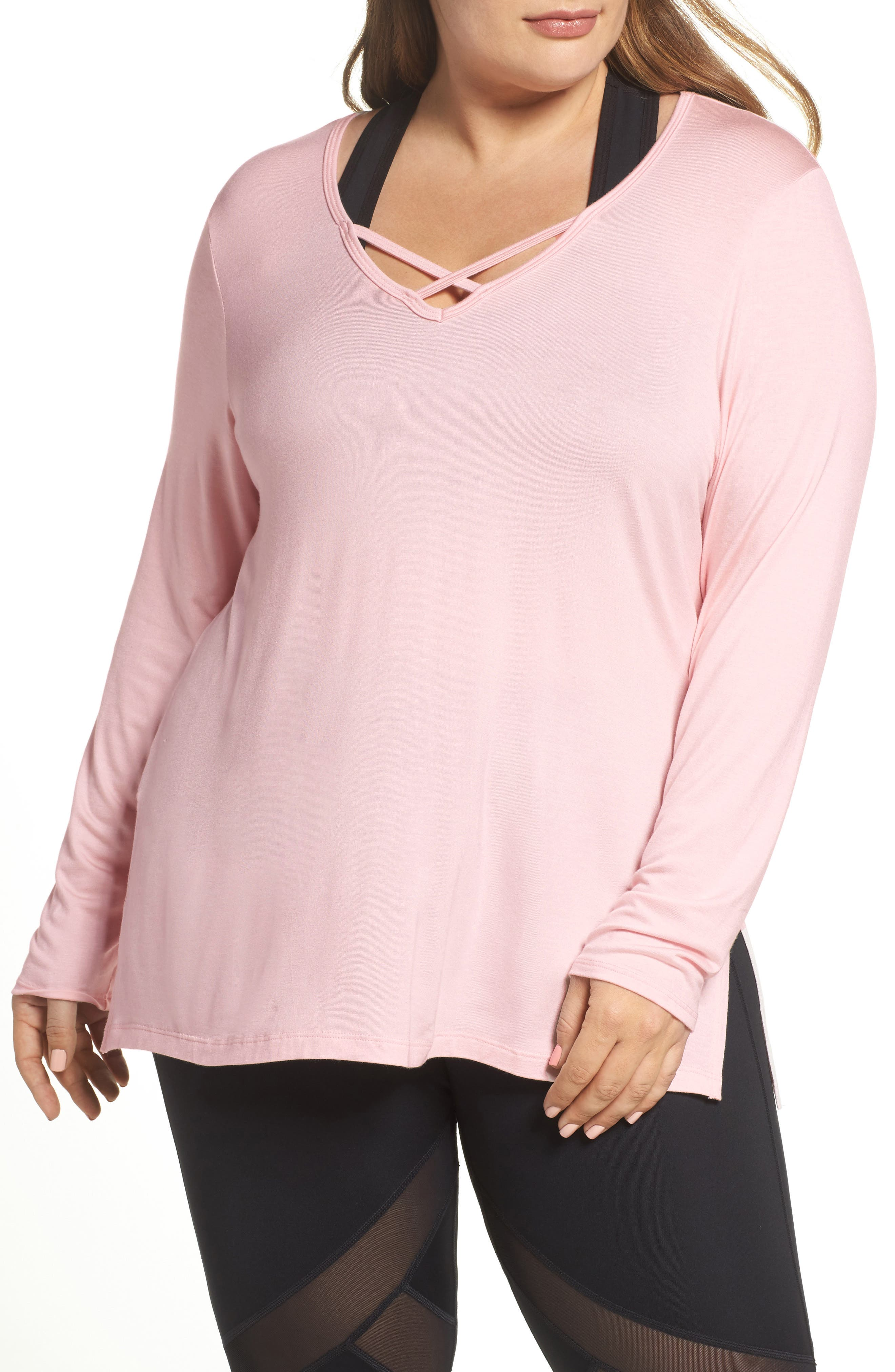 Cross Me Once Top,                         Main,                         color, Pink Opal