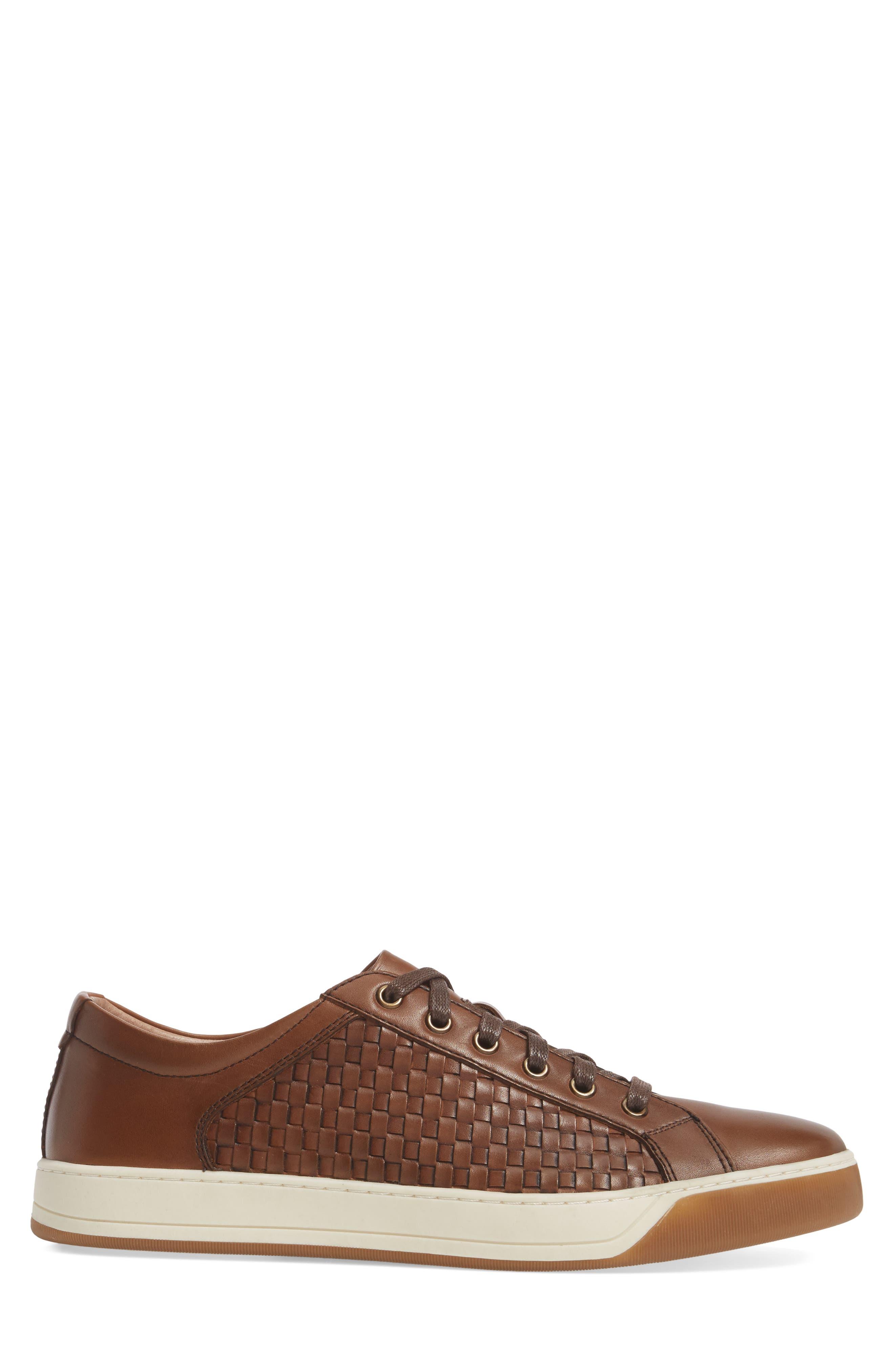 Allister Woven Low Top Sneaker,                             Alternate thumbnail 3, color,                             Brown
