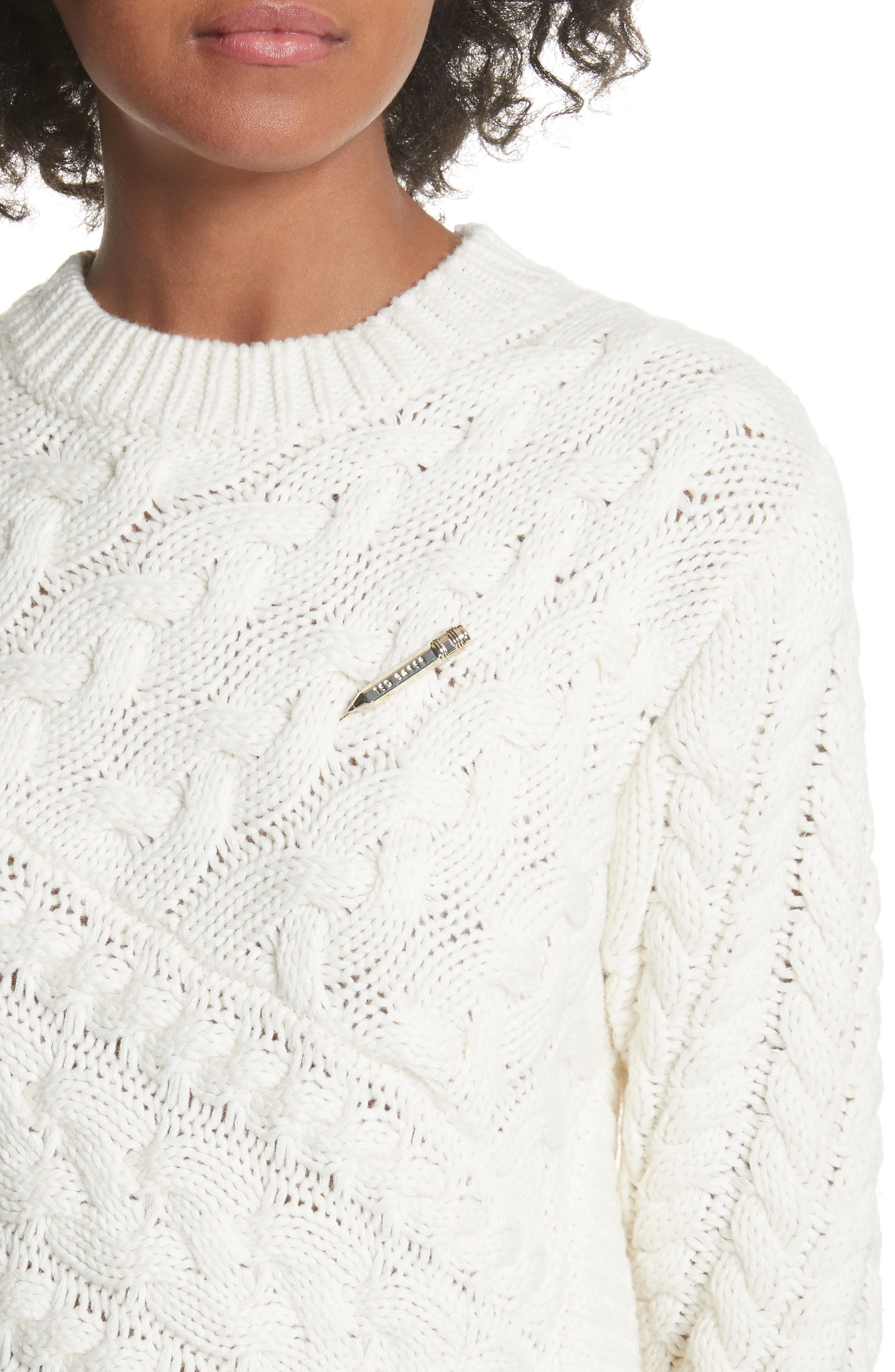 Colour by Numbers Jaia Fringe Sweater,                             Alternate thumbnail 4, color,                             White