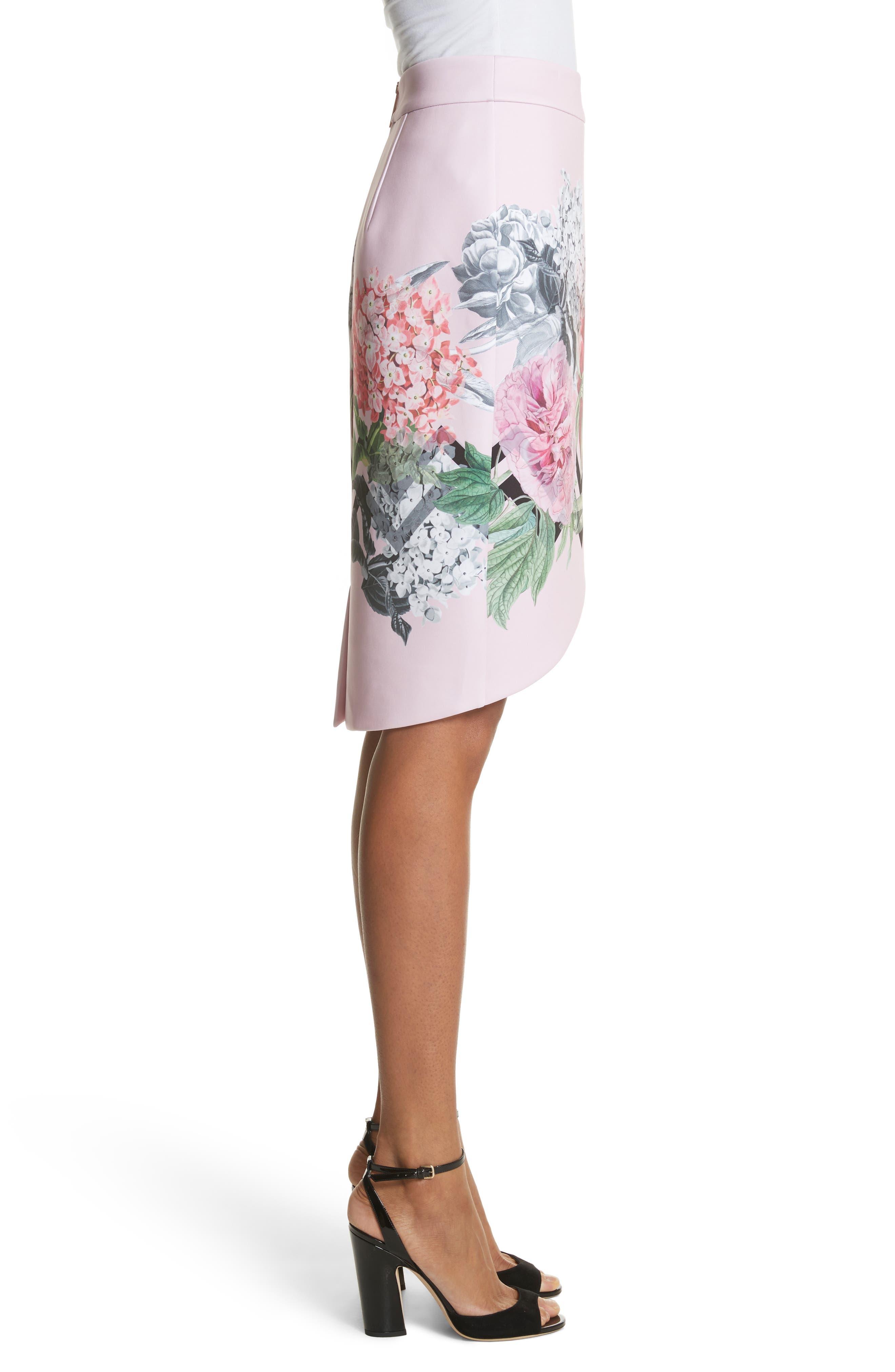 Soella Pencil Skirt,                             Alternate thumbnail 3, color,                             Pale Pink