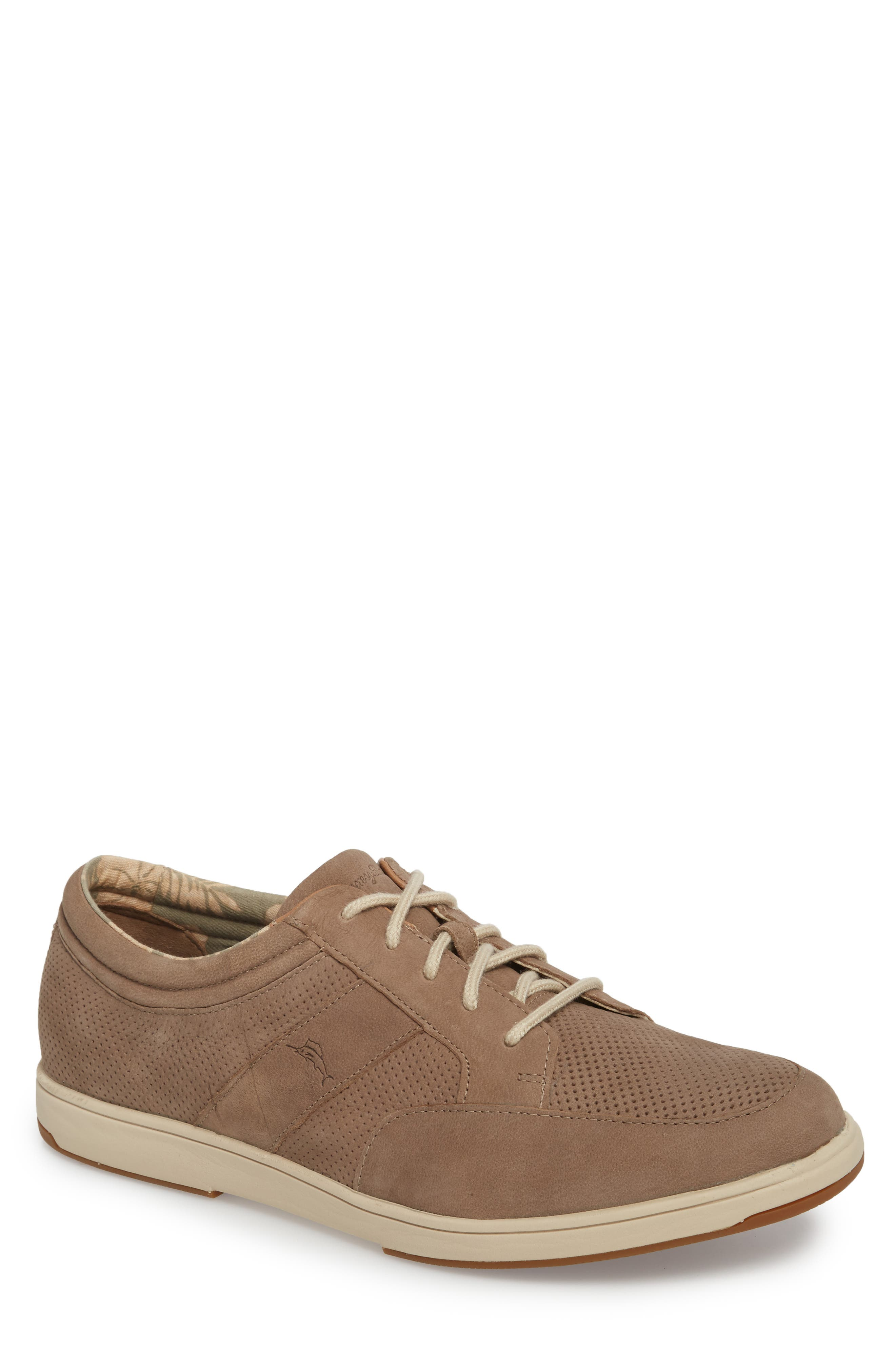 Caicos Authentic Low Top Sneaker,                             Main thumbnail 1, color,                             Taupe Leather
