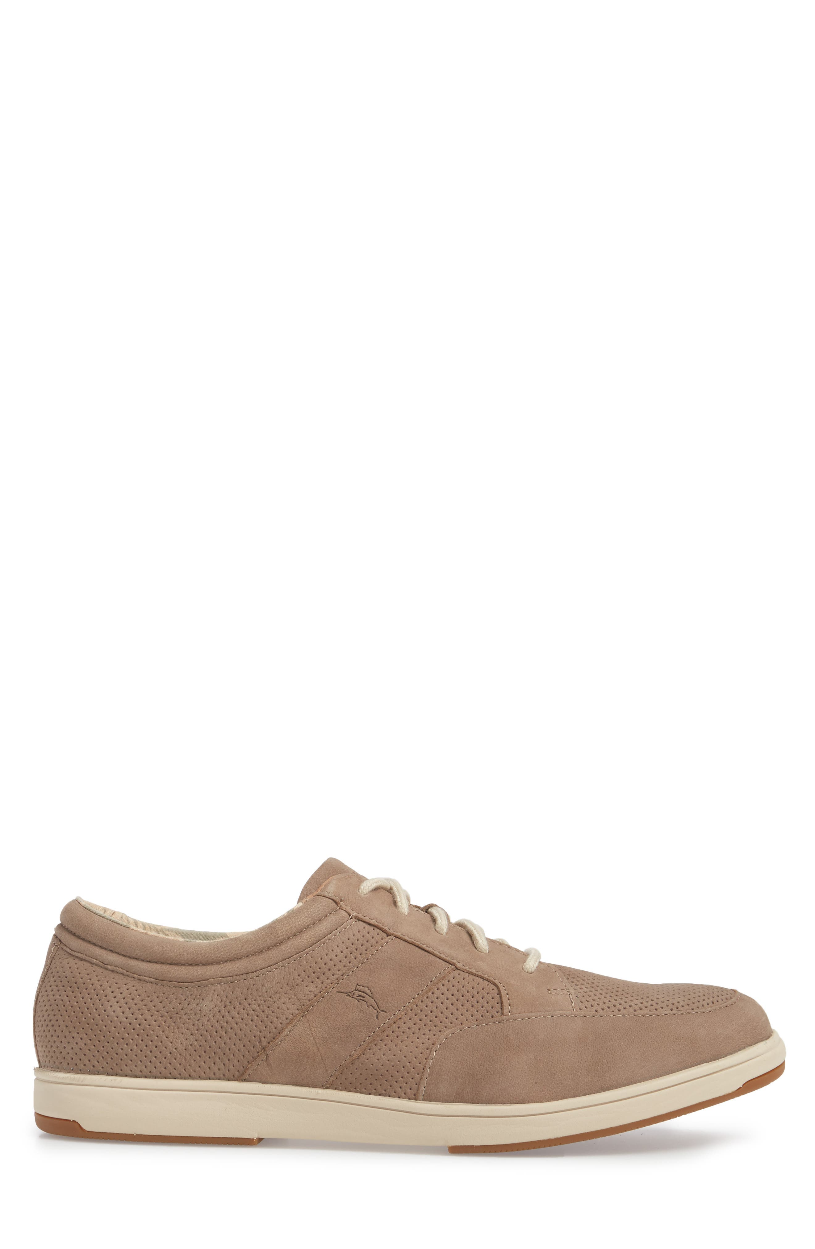 Caicos Authentic Low Top Sneaker,                             Alternate thumbnail 3, color,                             Taupe Leather