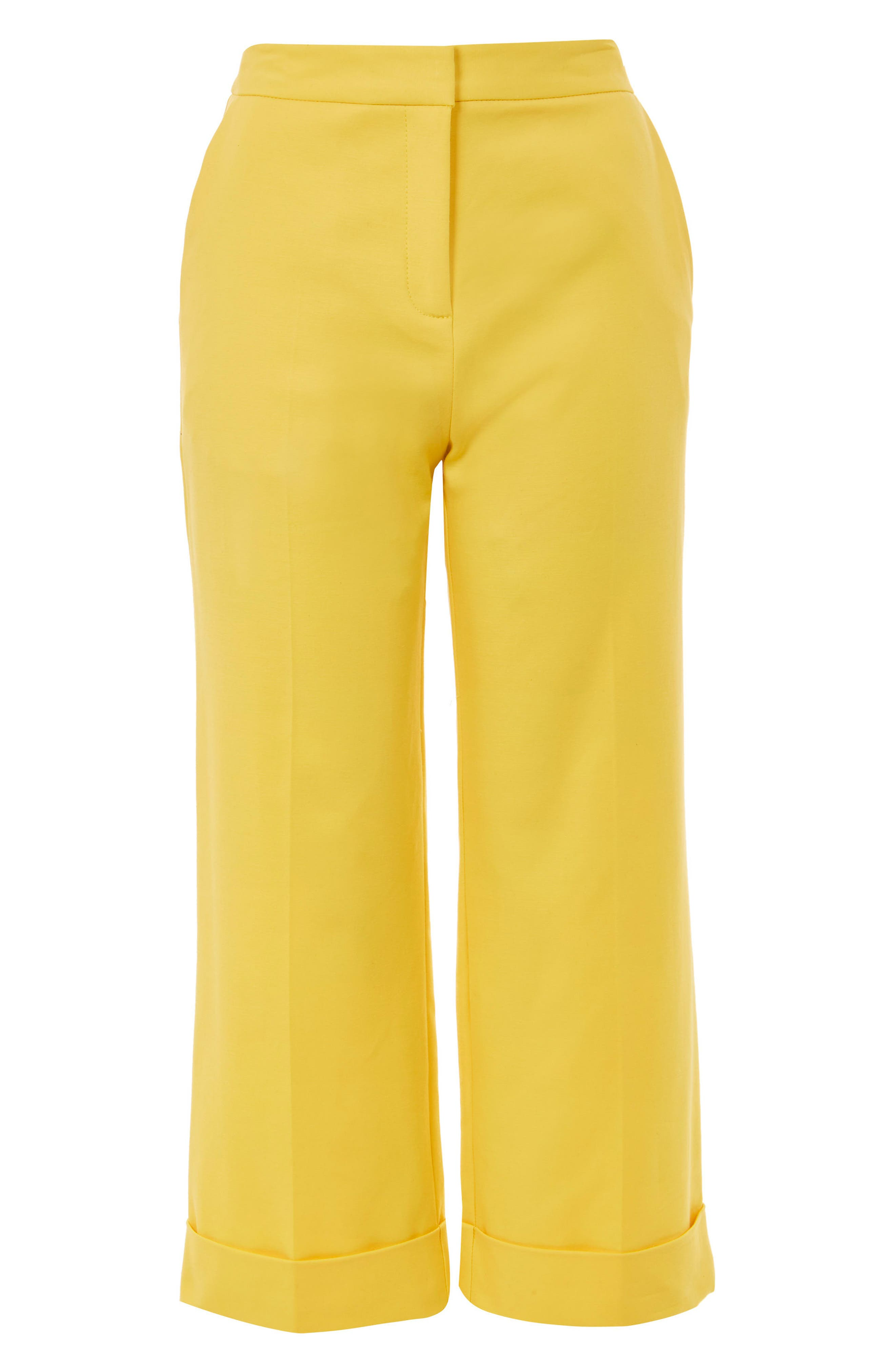 Milly Crop Suit Trousers,                             Alternate thumbnail 4, color,                             Yellow