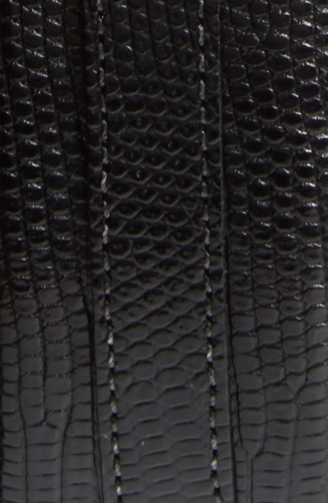 Lizard Leather Belt,                             Alternate thumbnail 2, color,                             Black