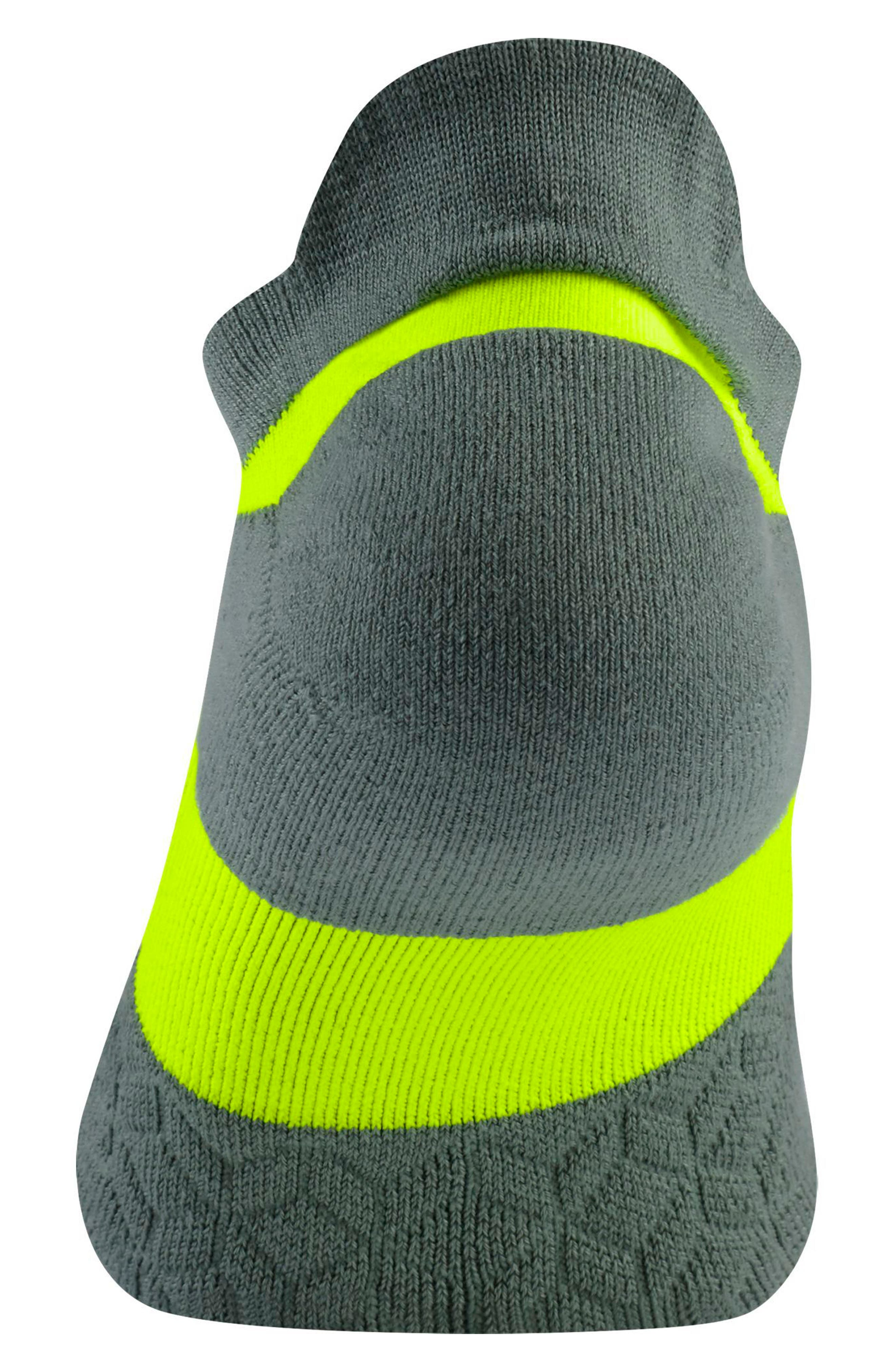 Alternate Image 2  - Nike Elite Cushioned No-Show Tab Running Socks