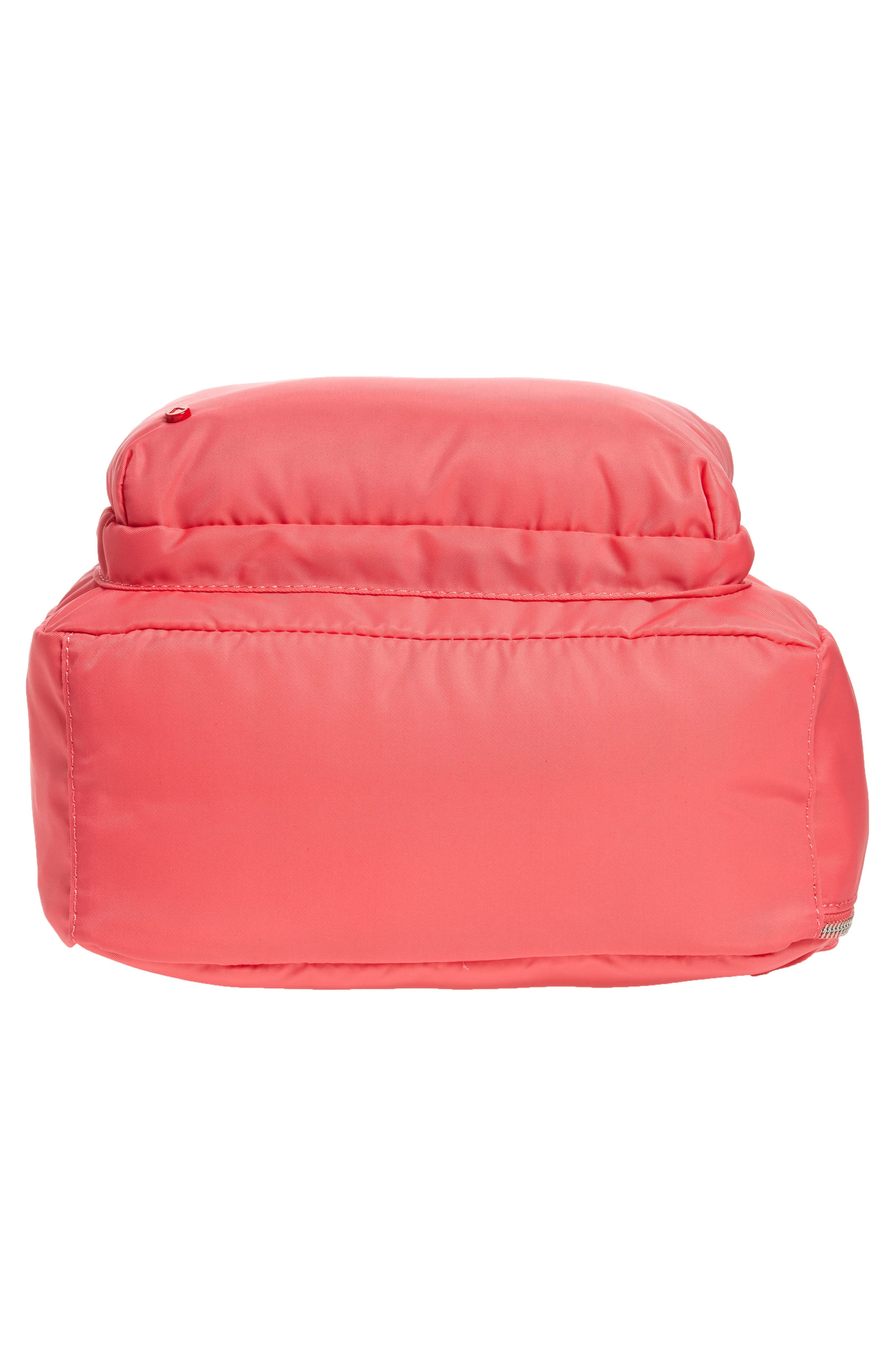 The Heights Mini Lorimer Nylon Backpack,                             Alternate thumbnail 6, color,                             Poppy