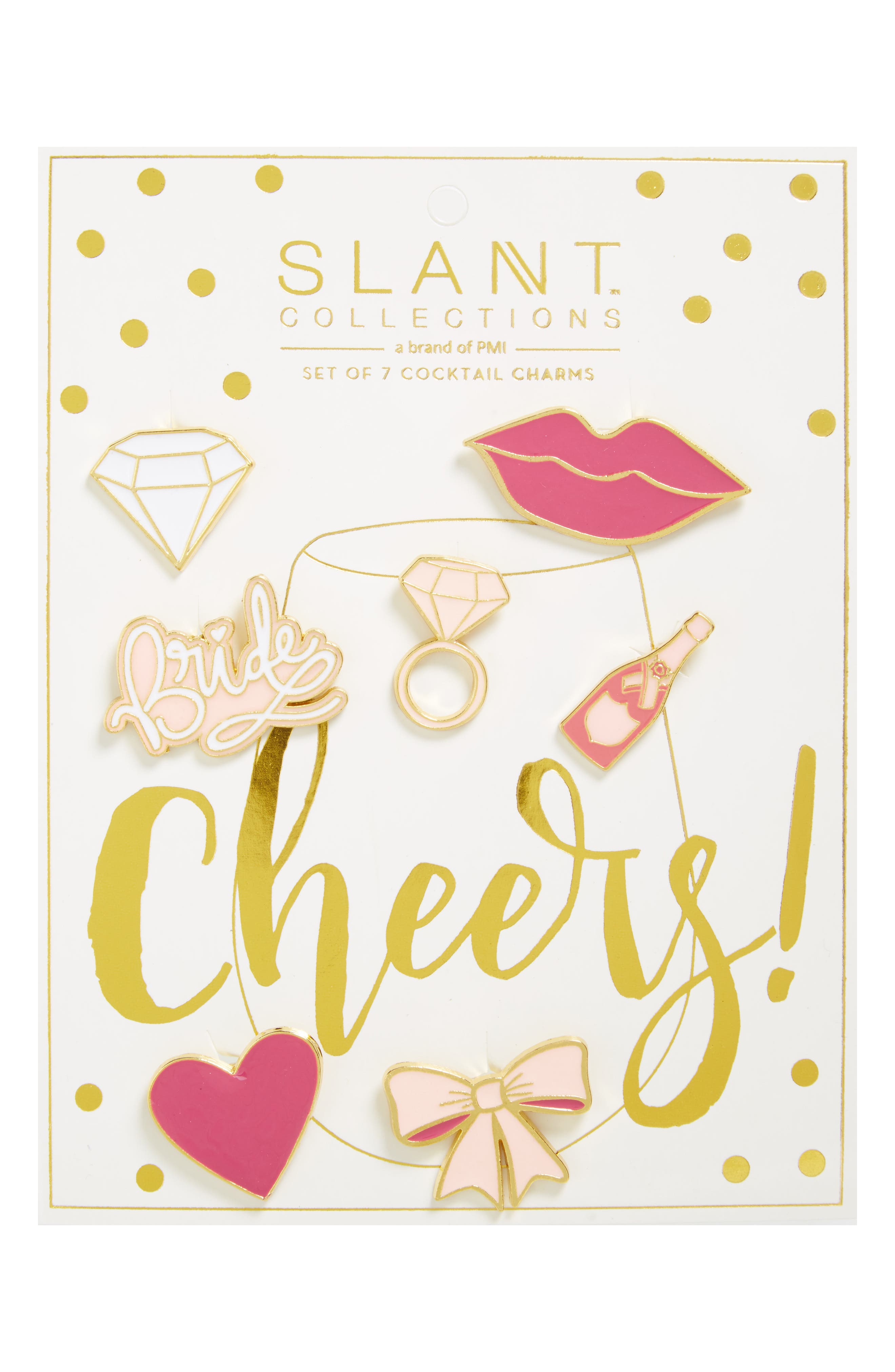 Slant Collections 7-Pack Bridal Party Cocktail Charms
