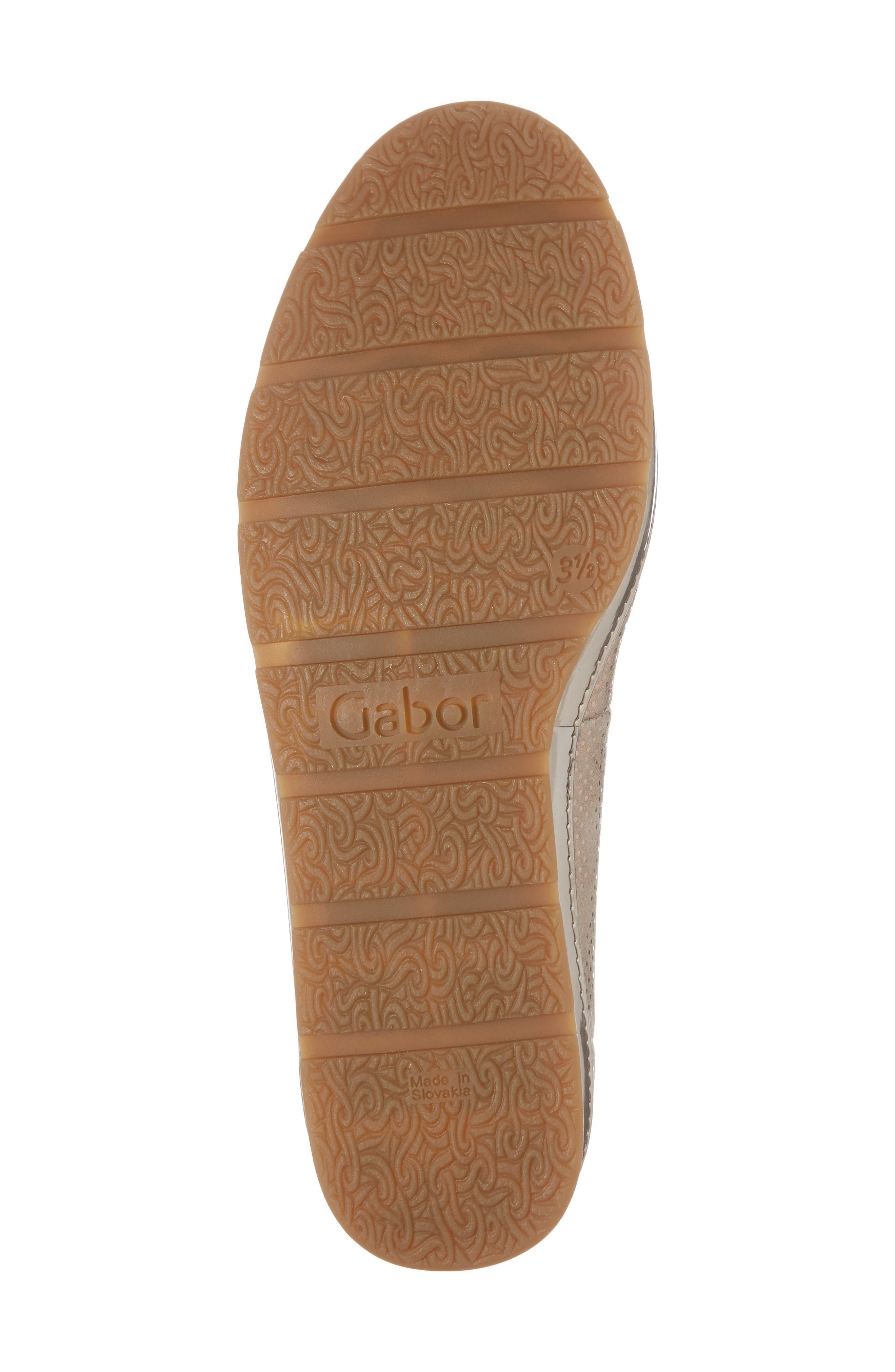 Ballet Wedge,                             Alternate thumbnail 6, color,                             Beige Metallic Leather
