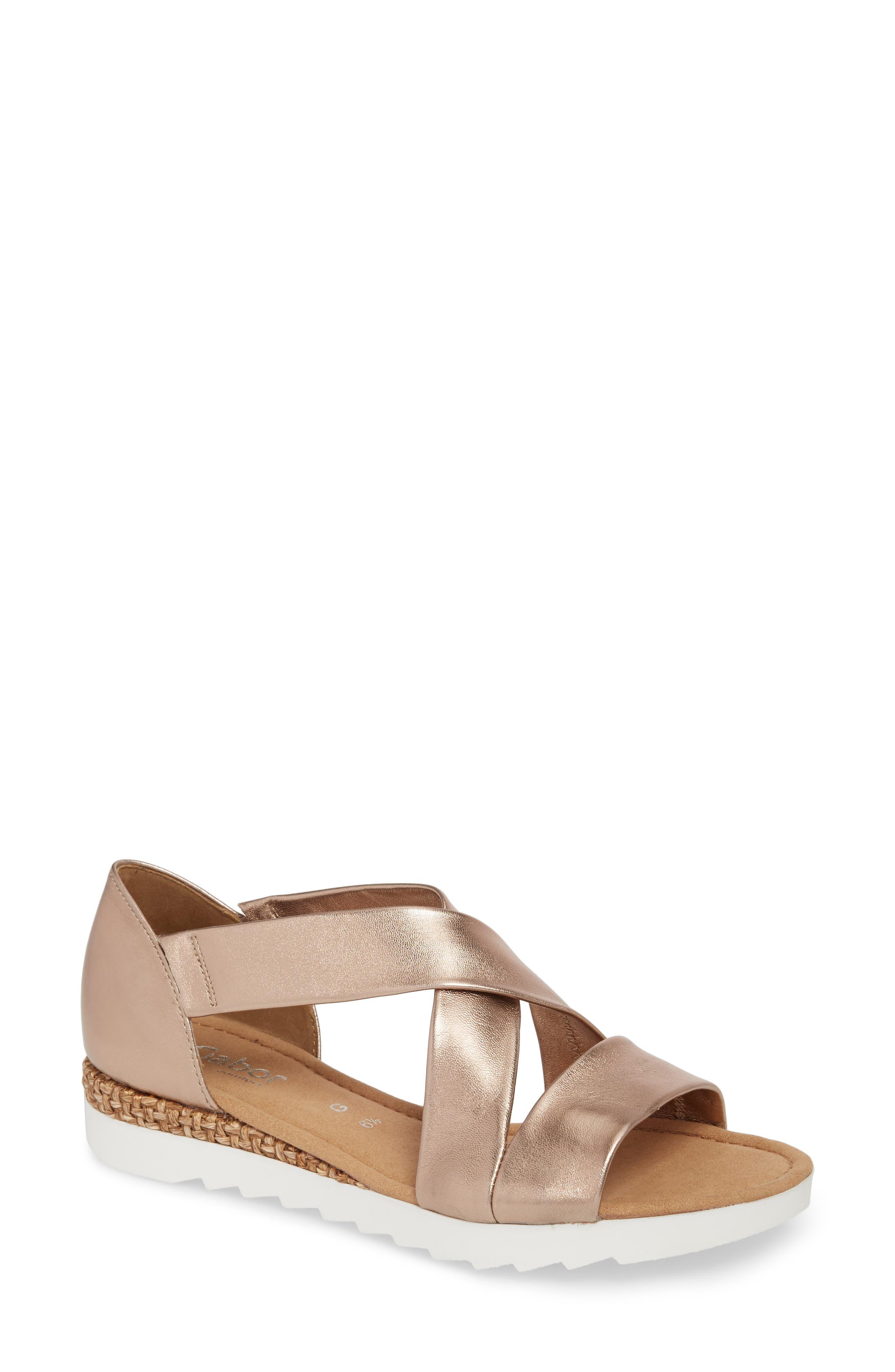 Gabor Cross Strap Sandal (Women)