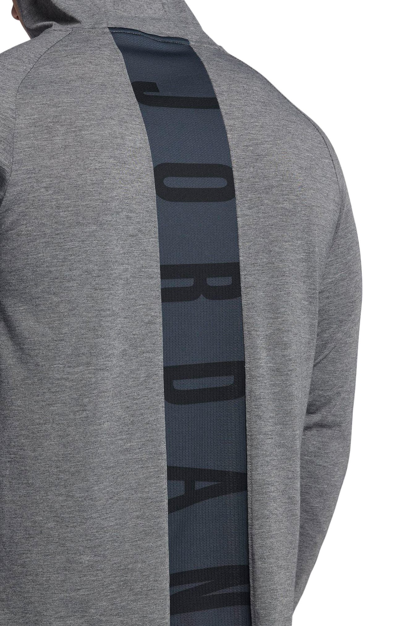 Nike Dry 23 Alpha Hooded Shirt,                             Alternate thumbnail 3, color,                             Carbon Heather/ Black
