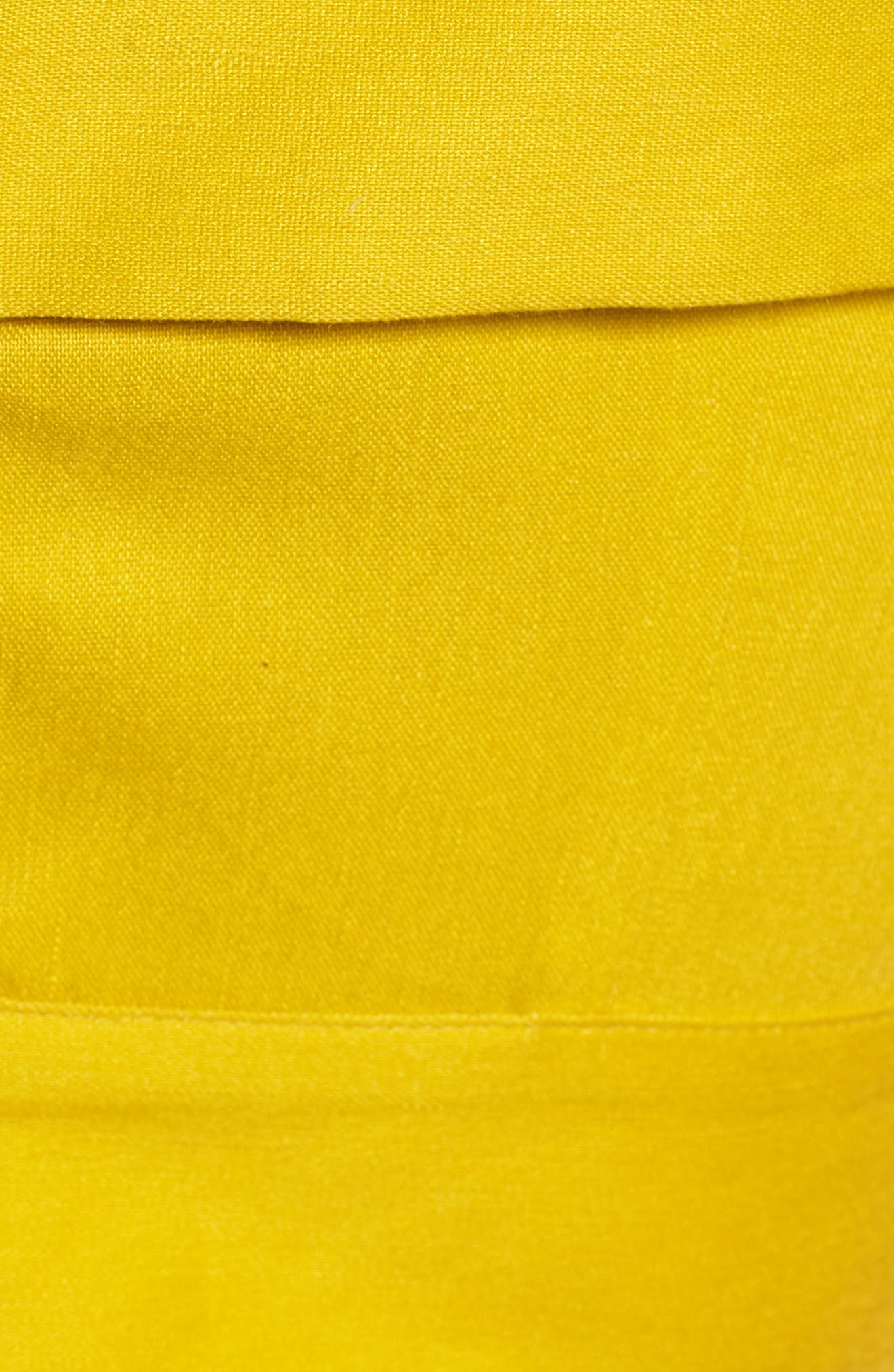 Cold Shoulder Crop Top,                             Alternate thumbnail 4, color,                             Yellow Tea