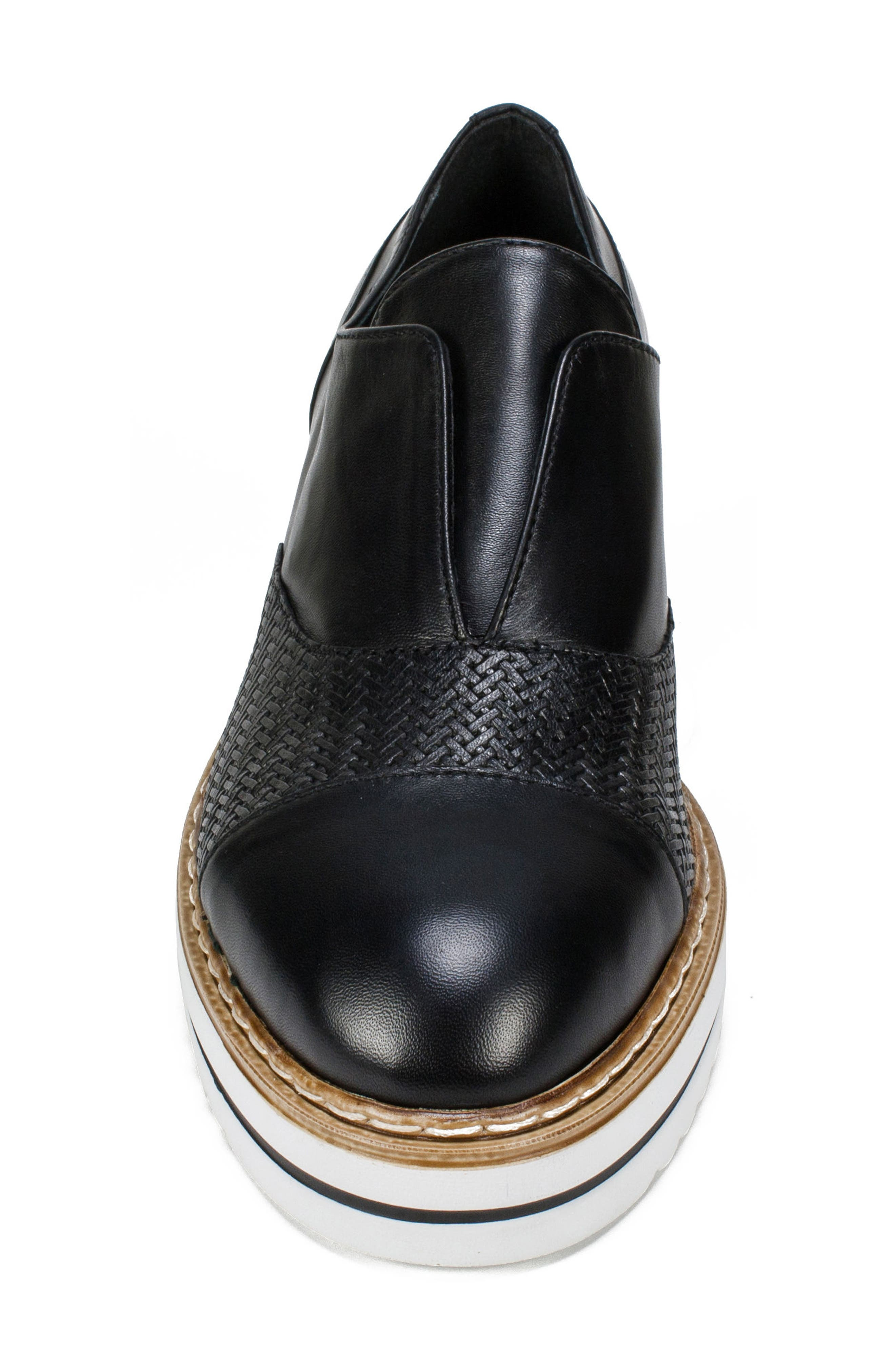 Bliss Loafer,                             Alternate thumbnail 4, color,                             Black Leather