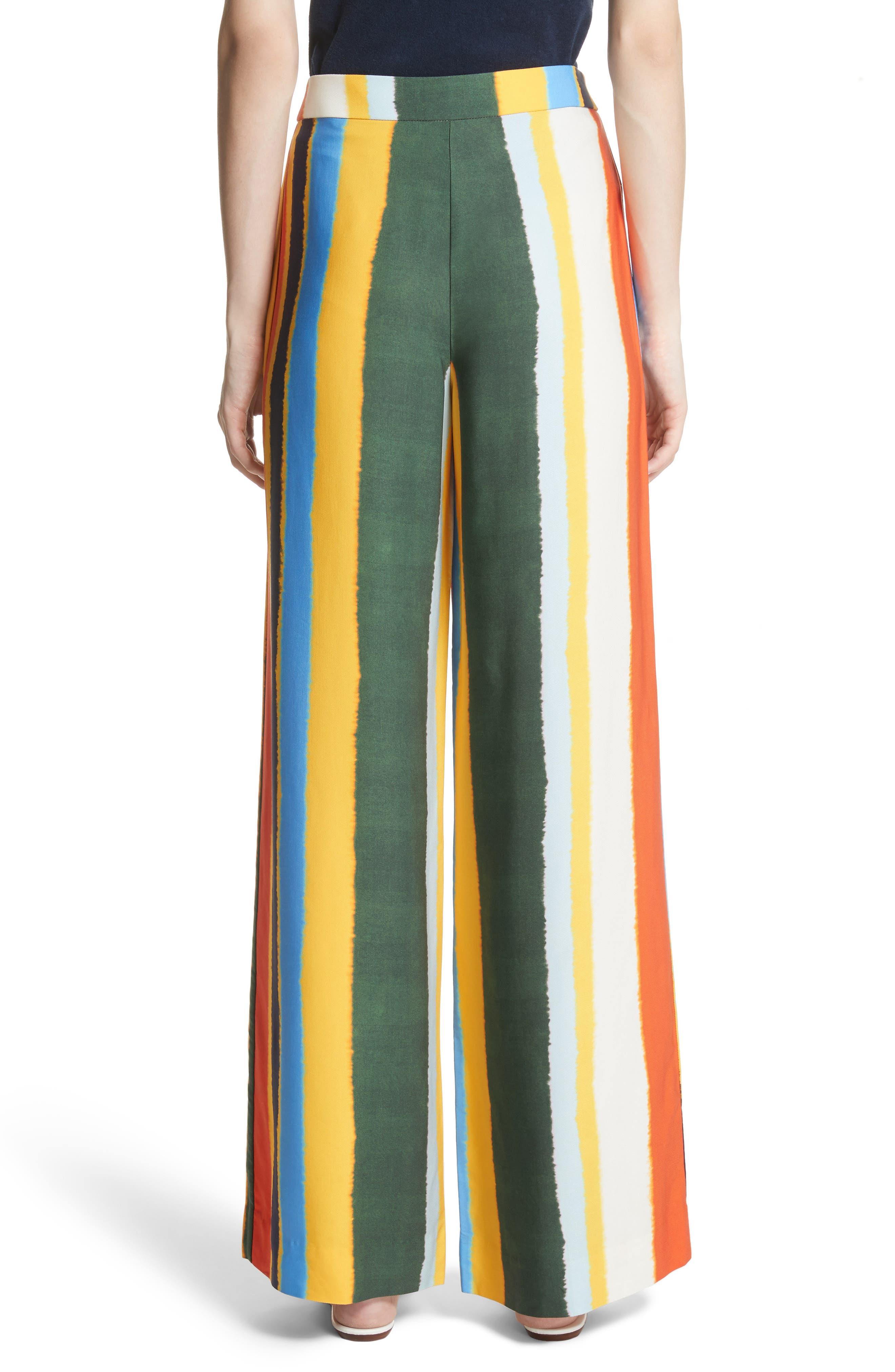 Fiona Stripe Wide Leg Pants,                             Alternate thumbnail 2, color,                             Balloon Stripe