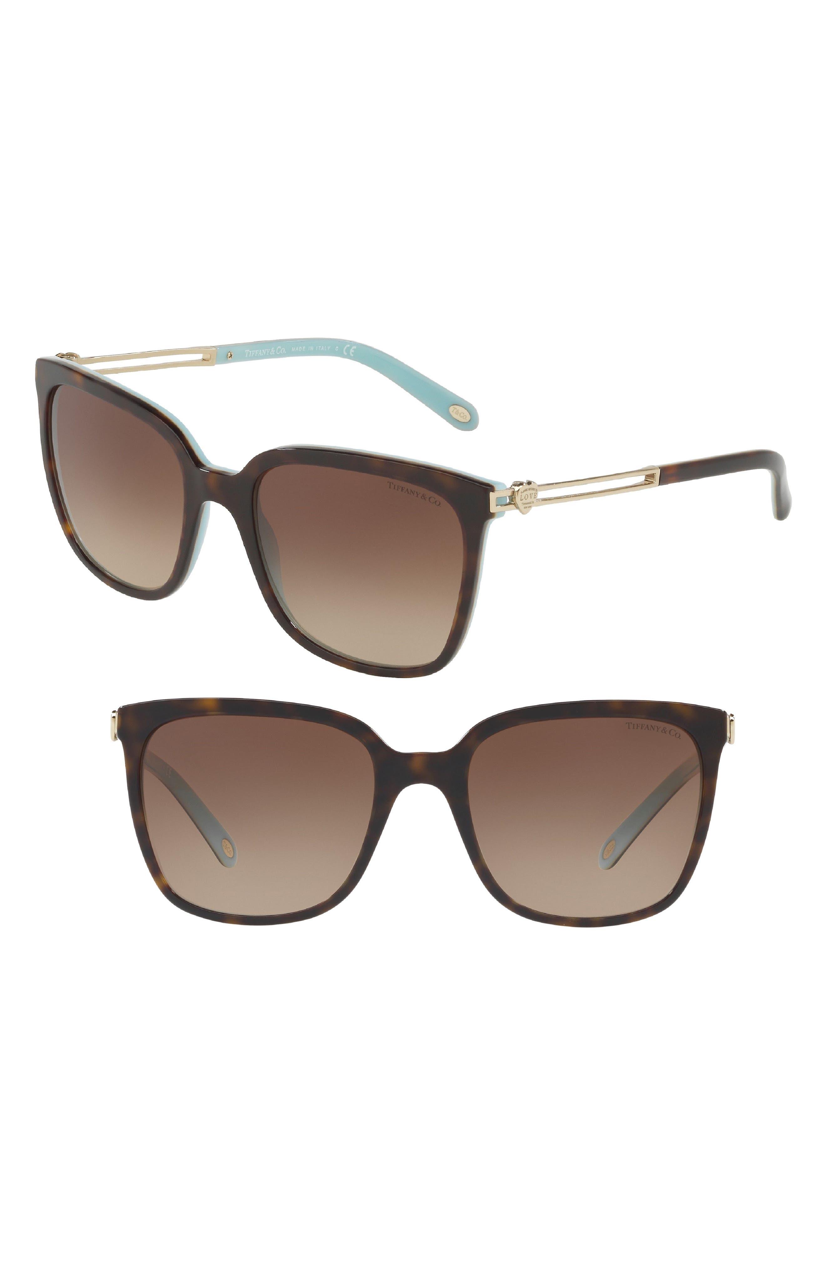 Tiffany 54mm Sunglasses,                             Main thumbnail 1, color,                             Havana Blue Gradient