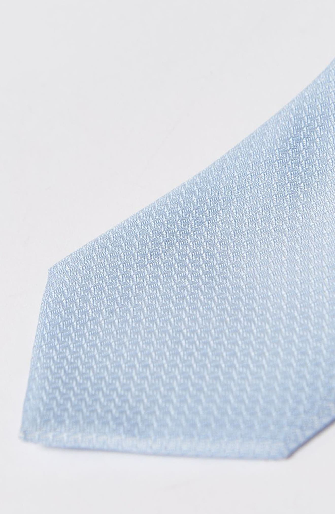 Textured Woven Tie,                             Alternate thumbnail 2, color,                             Light Blue
