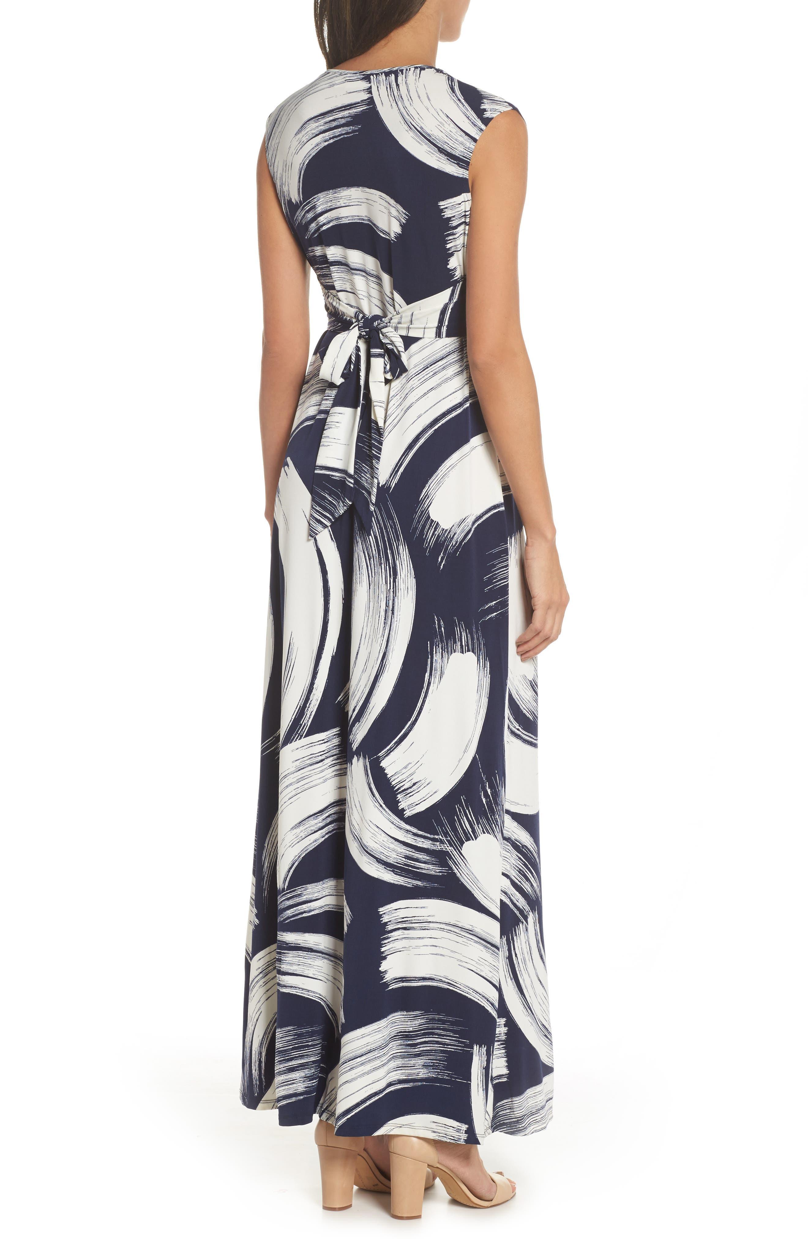 Alternate Image 2  - Eliza J Brush Print Jersey Maxi Dress