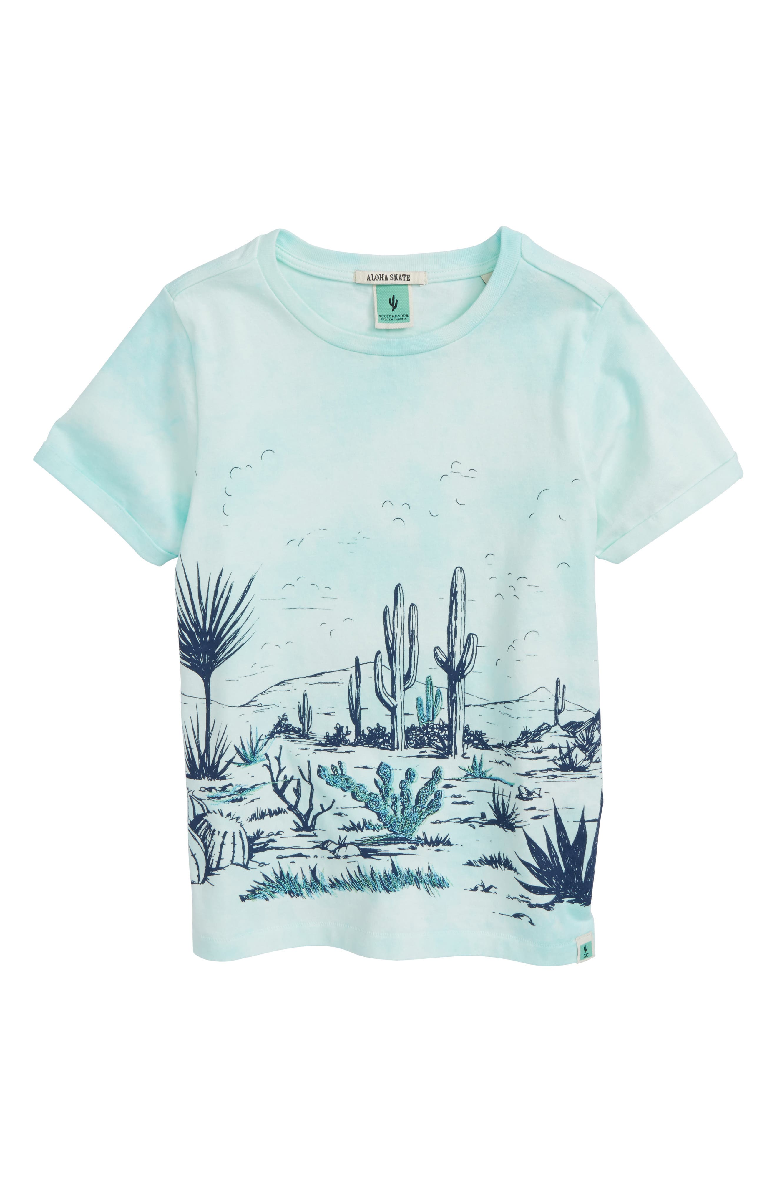 Desert Tie Dye T-Shirt,                             Main thumbnail 1, color,                             Eucalyptus