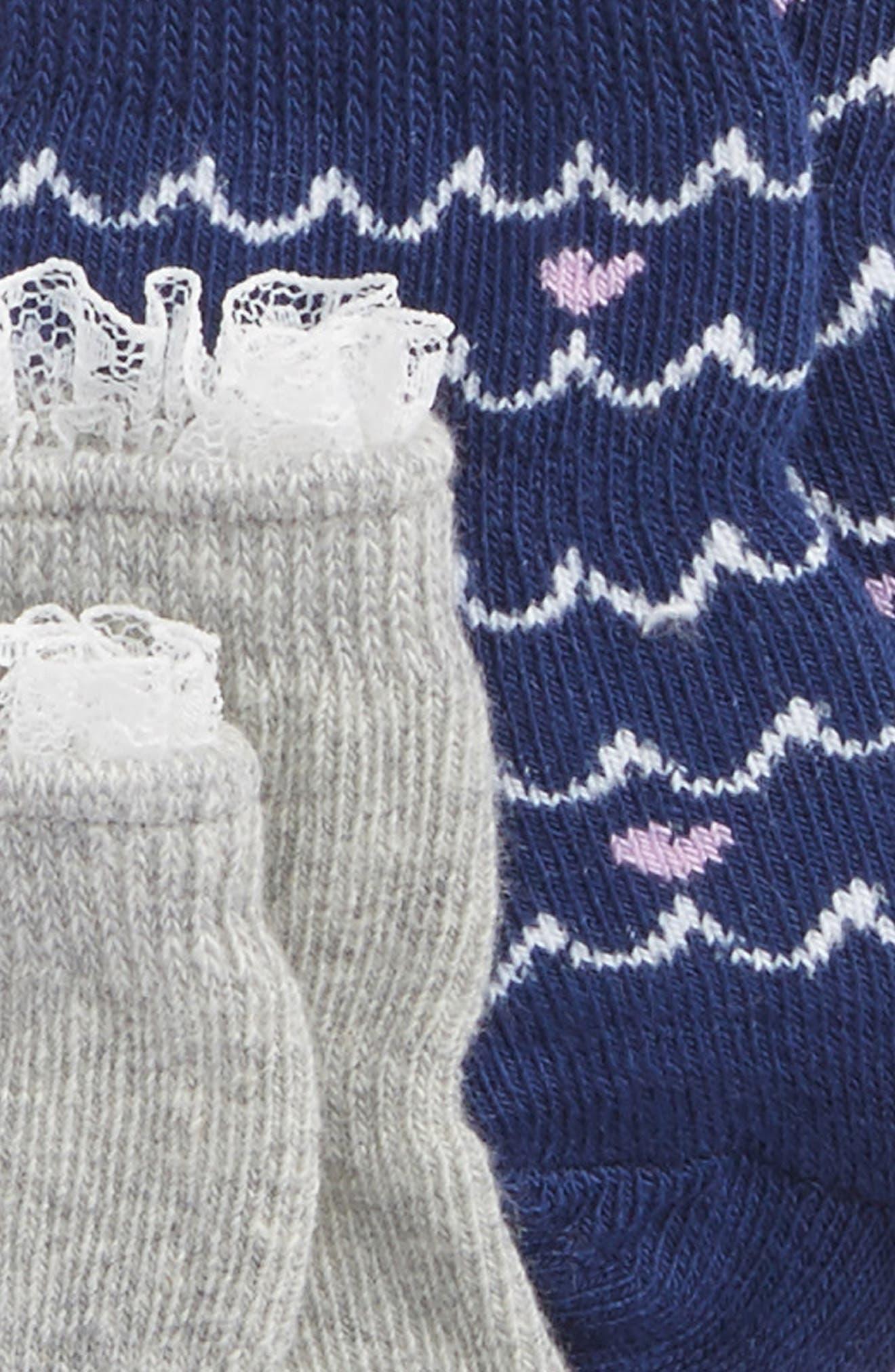 Whales 3-Pack Socks,                             Alternate thumbnail 2, color,                             Navy/ White/ Grey