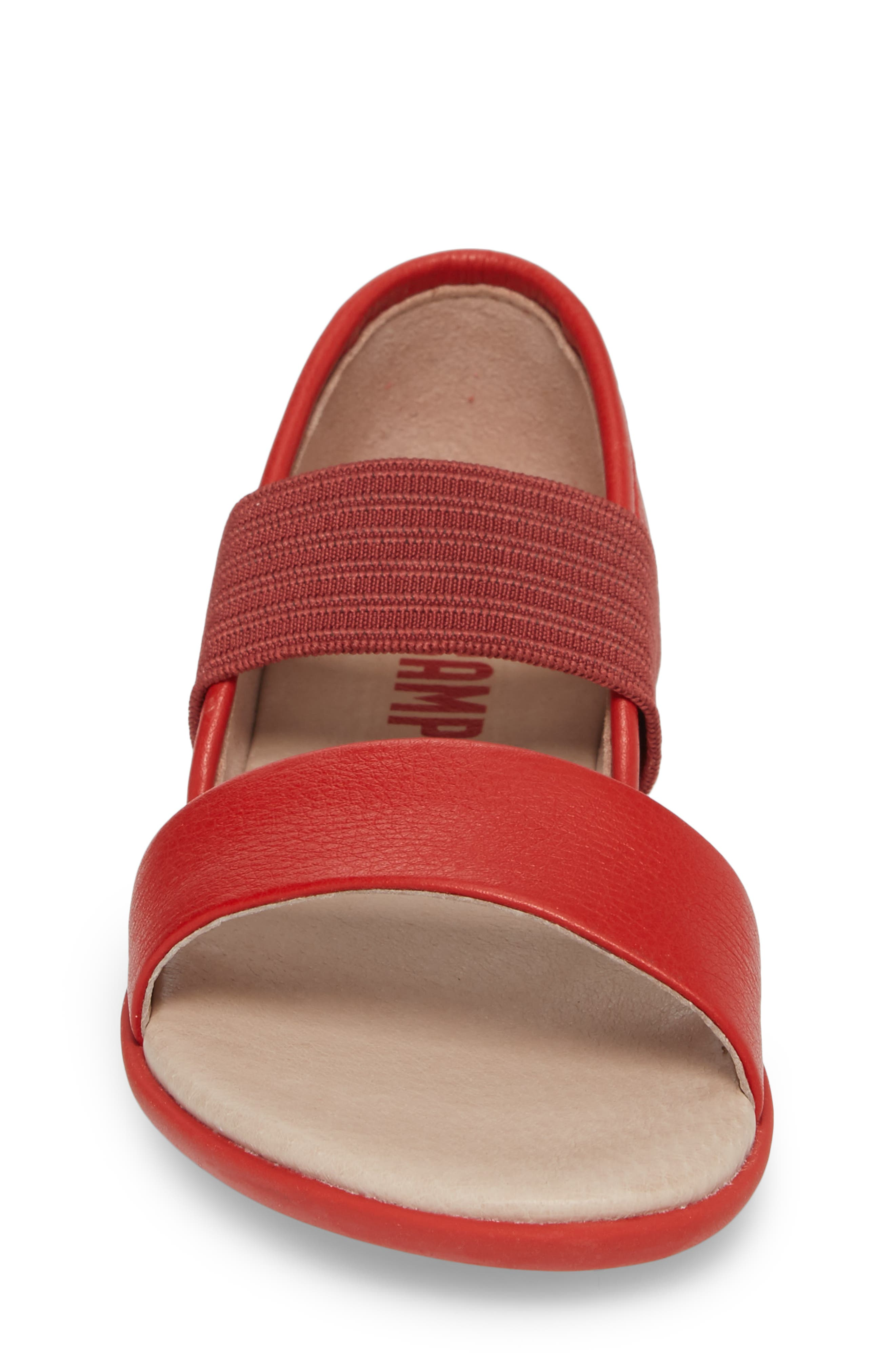 Right Sandal,                             Alternate thumbnail 4, color,                             Red
