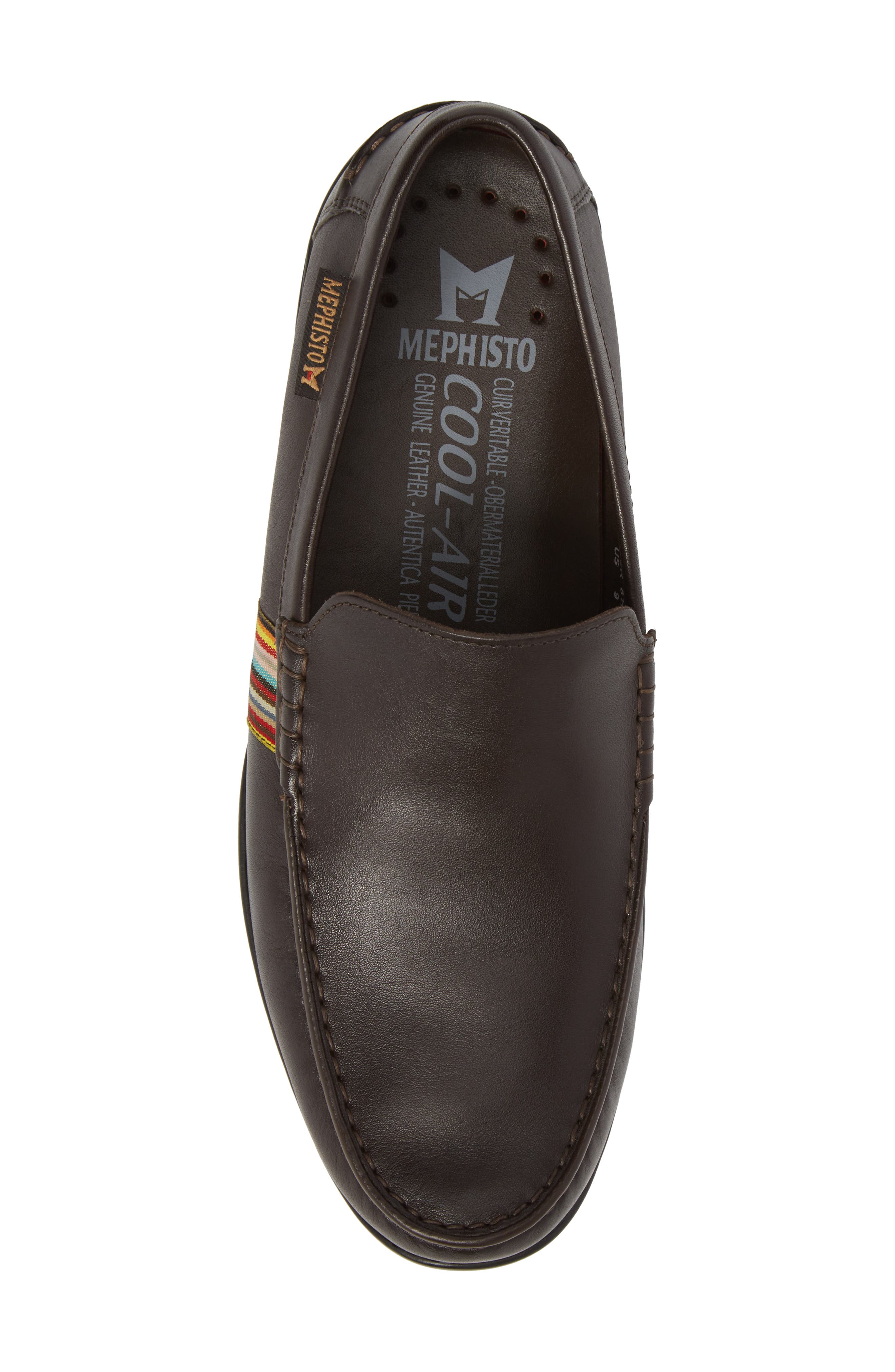 Idris Banded Loafer,                             Alternate thumbnail 5, color,                             Dark Brown Leather