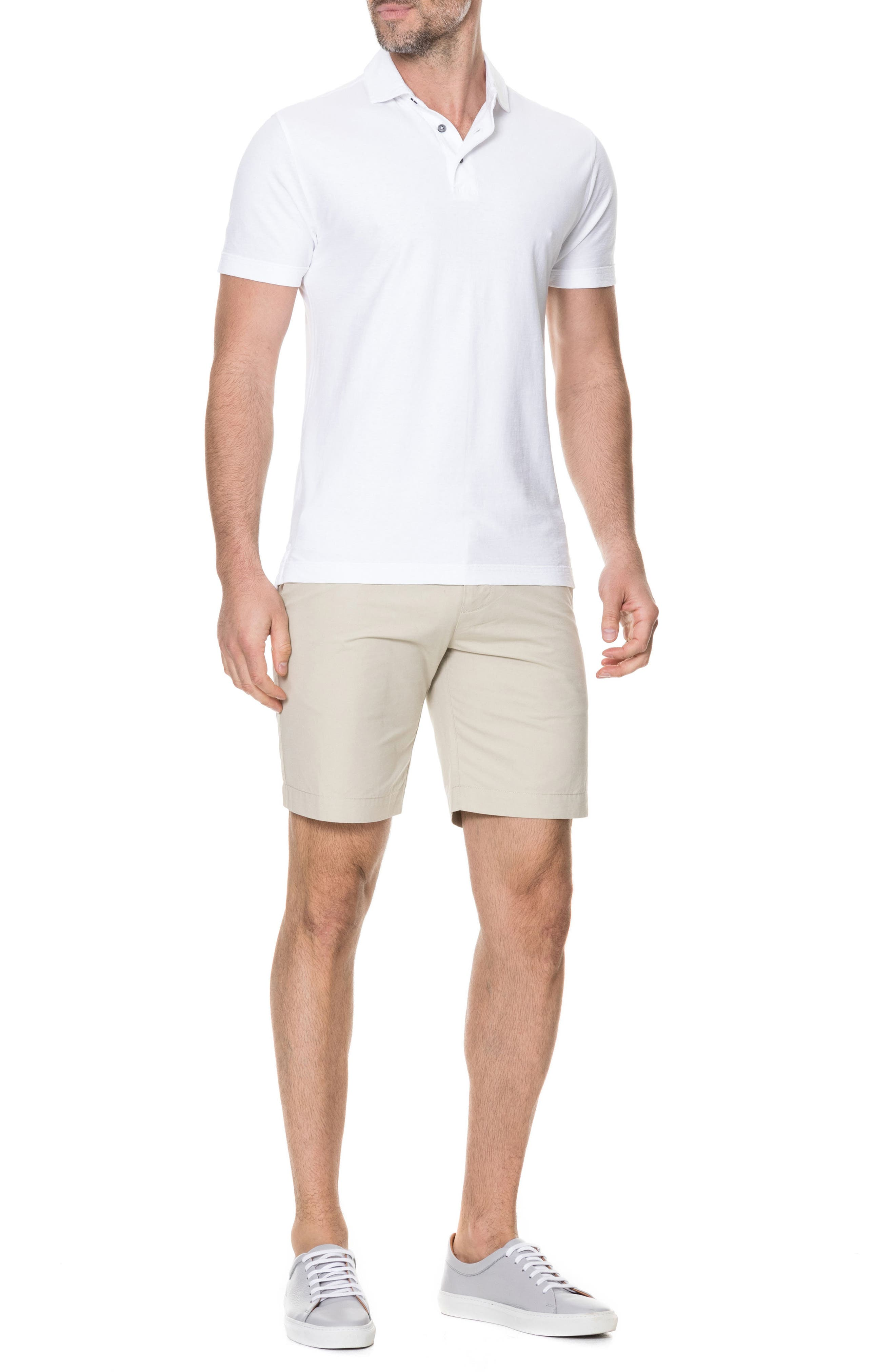 Wilsons Bay Sports Fit Polo,                             Alternate thumbnail 5, color,                             Snow