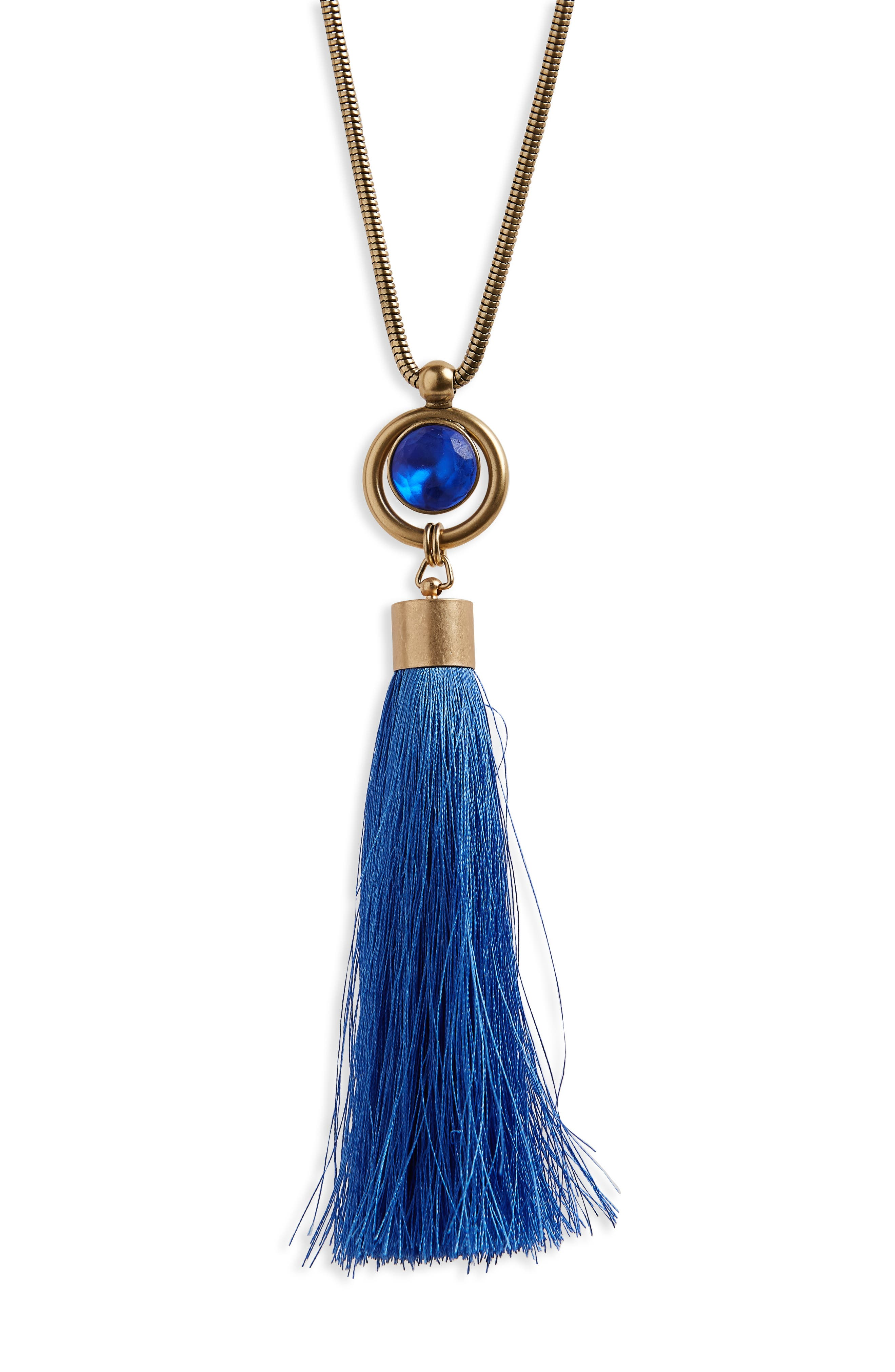 Alternate Image 2  - Loren Hope Scarlet Tassel Pendant Necklace