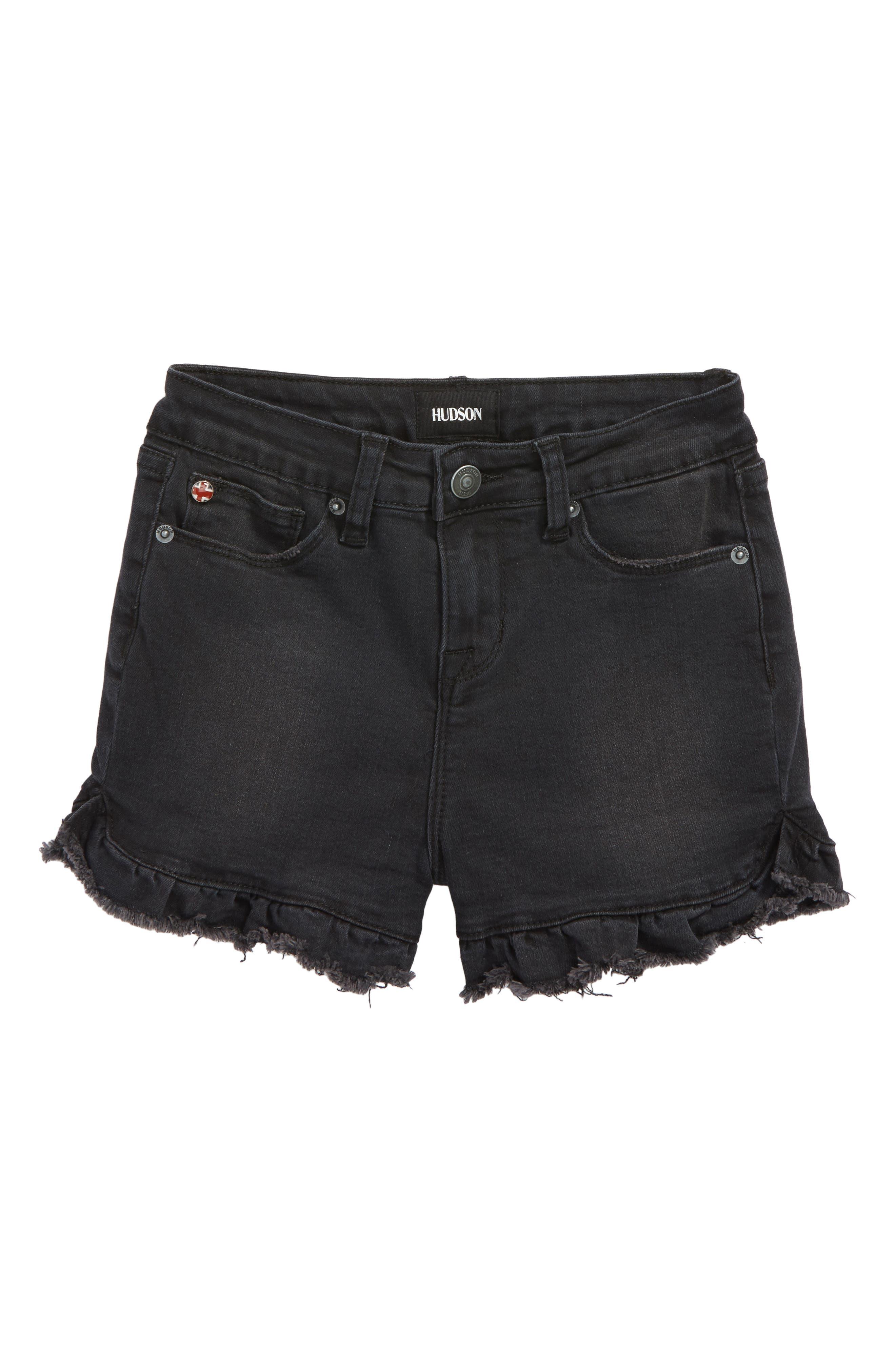 Vintage High Waist Ruffle Shorts,                         Main,                         color, Beaten Blue