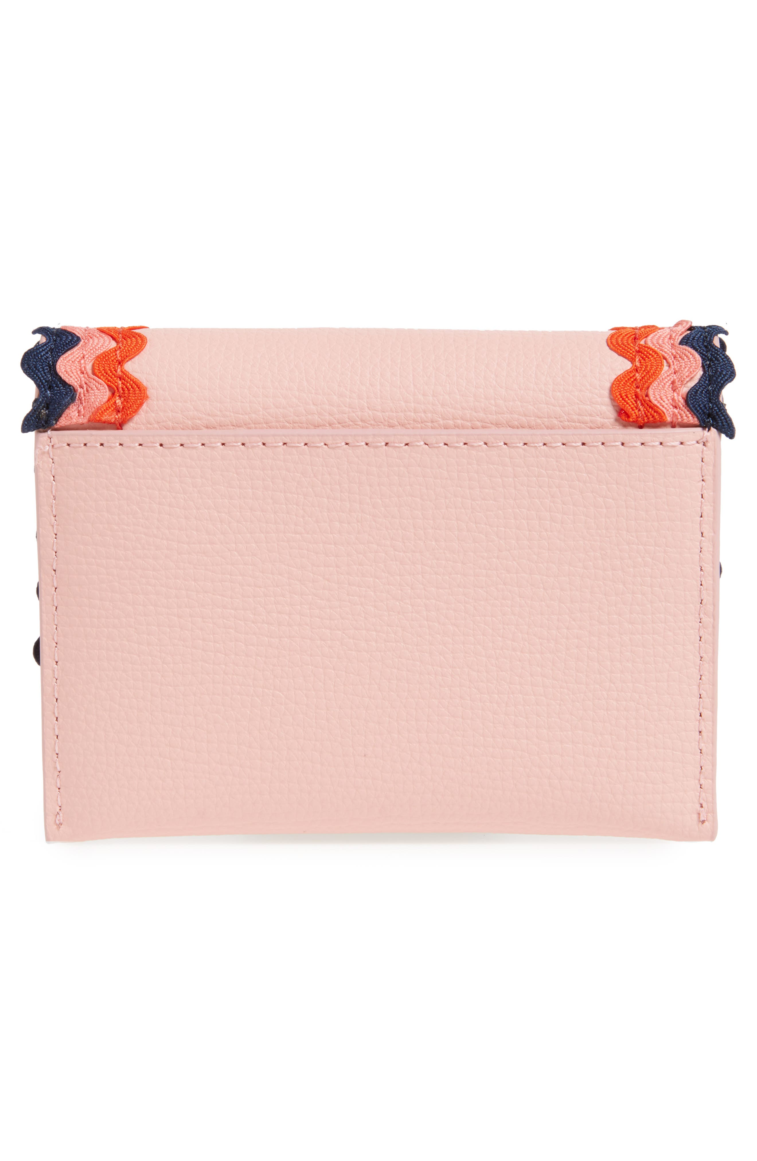 Essential Leather Wallet,                             Alternate thumbnail 4, color,                             Ballet/ Multi