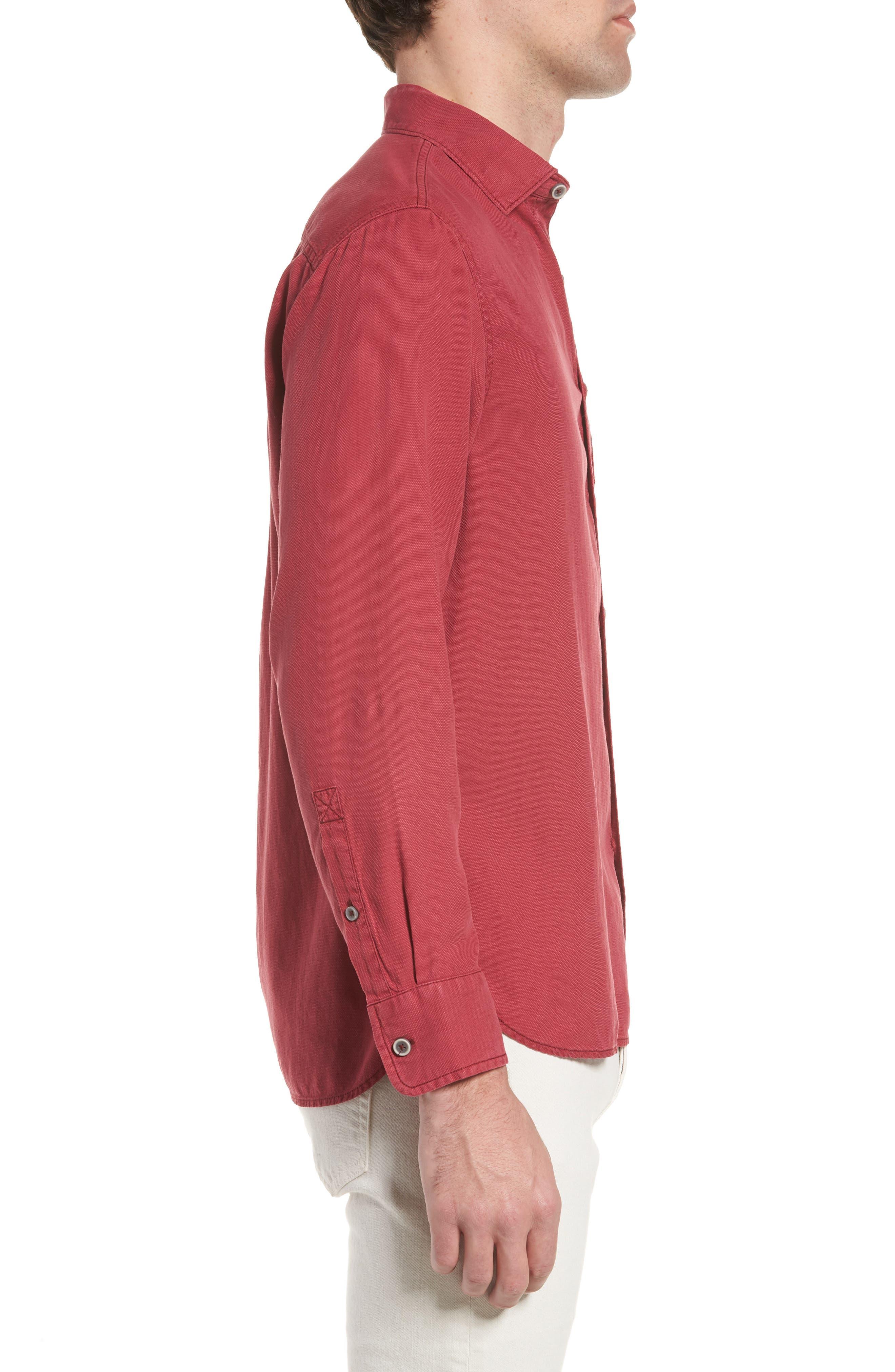 Alternate Image 3  - Tommy Bahama Dobby Dylan Sport Shirt
