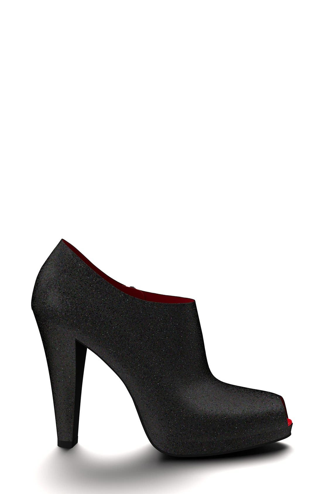 Alternate Image 3  - Shoes of Prey Glitter Peep Toe Platform Bootie (Women)