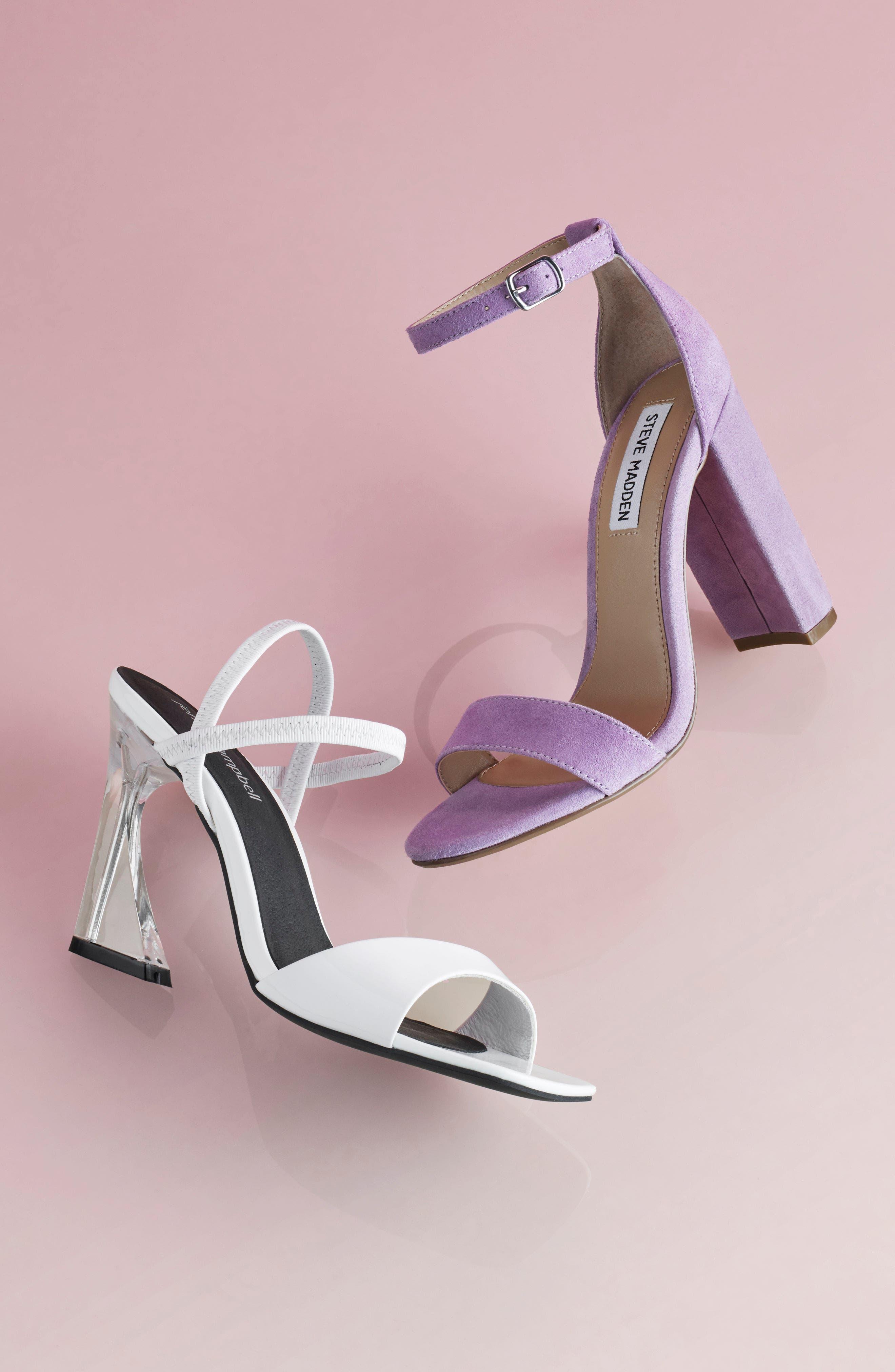Carine Sandal,                             Alternate thumbnail 2, color,                             White Patent/ Clear