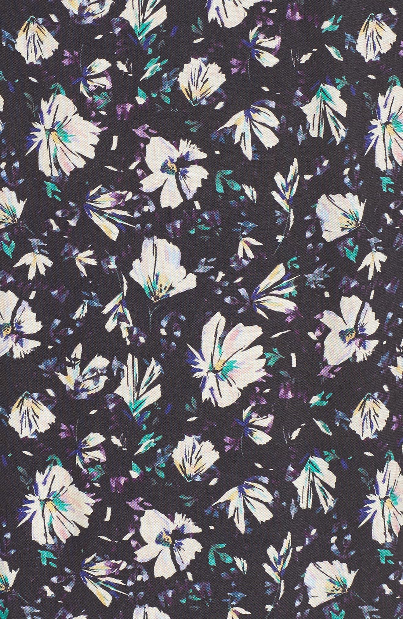 Lonny Floral Wrap Dress,                             Alternate thumbnail 5, color,                             London Floral