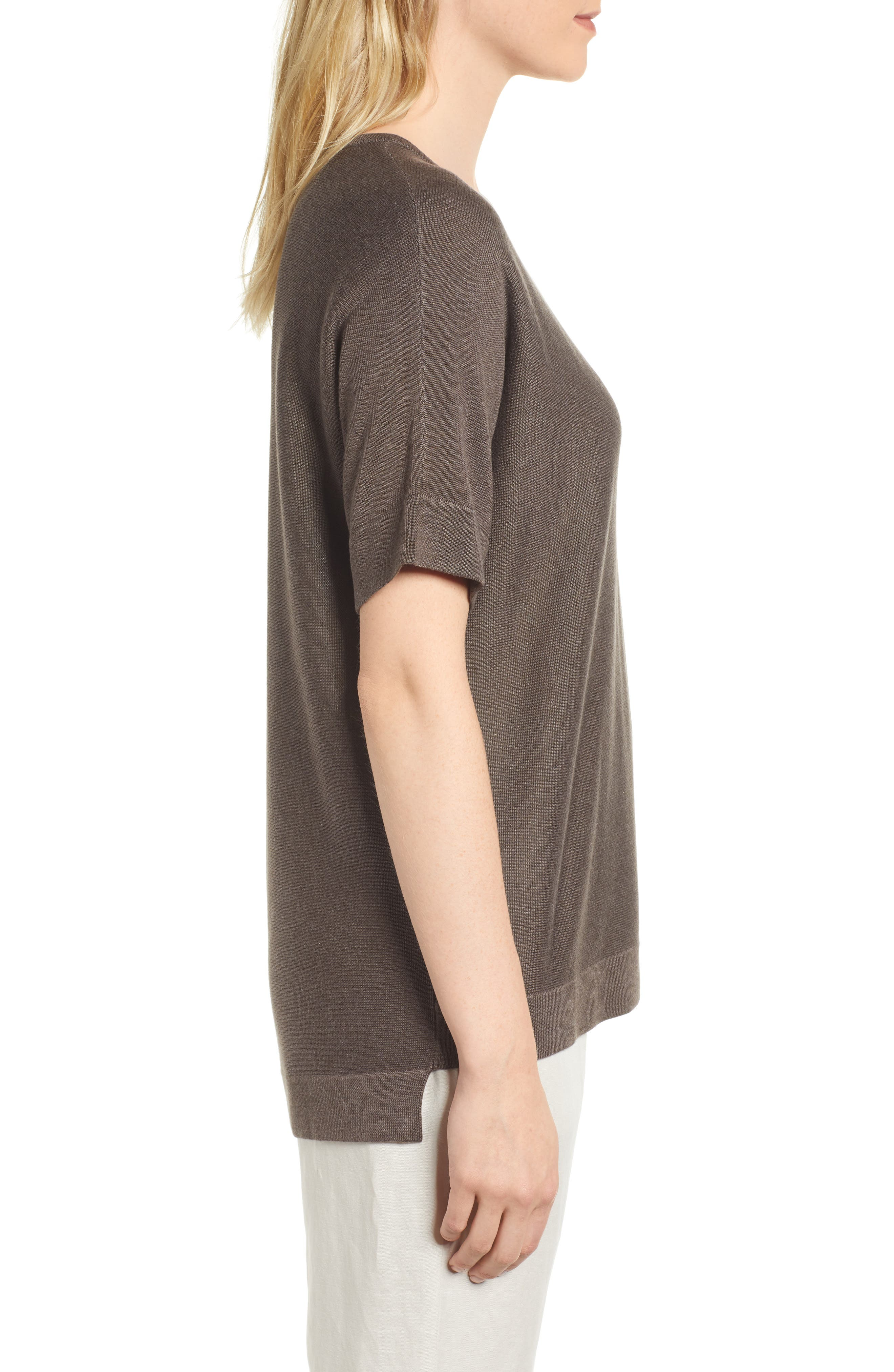Round Neck Top,                             Alternate thumbnail 3, color,                             Rye