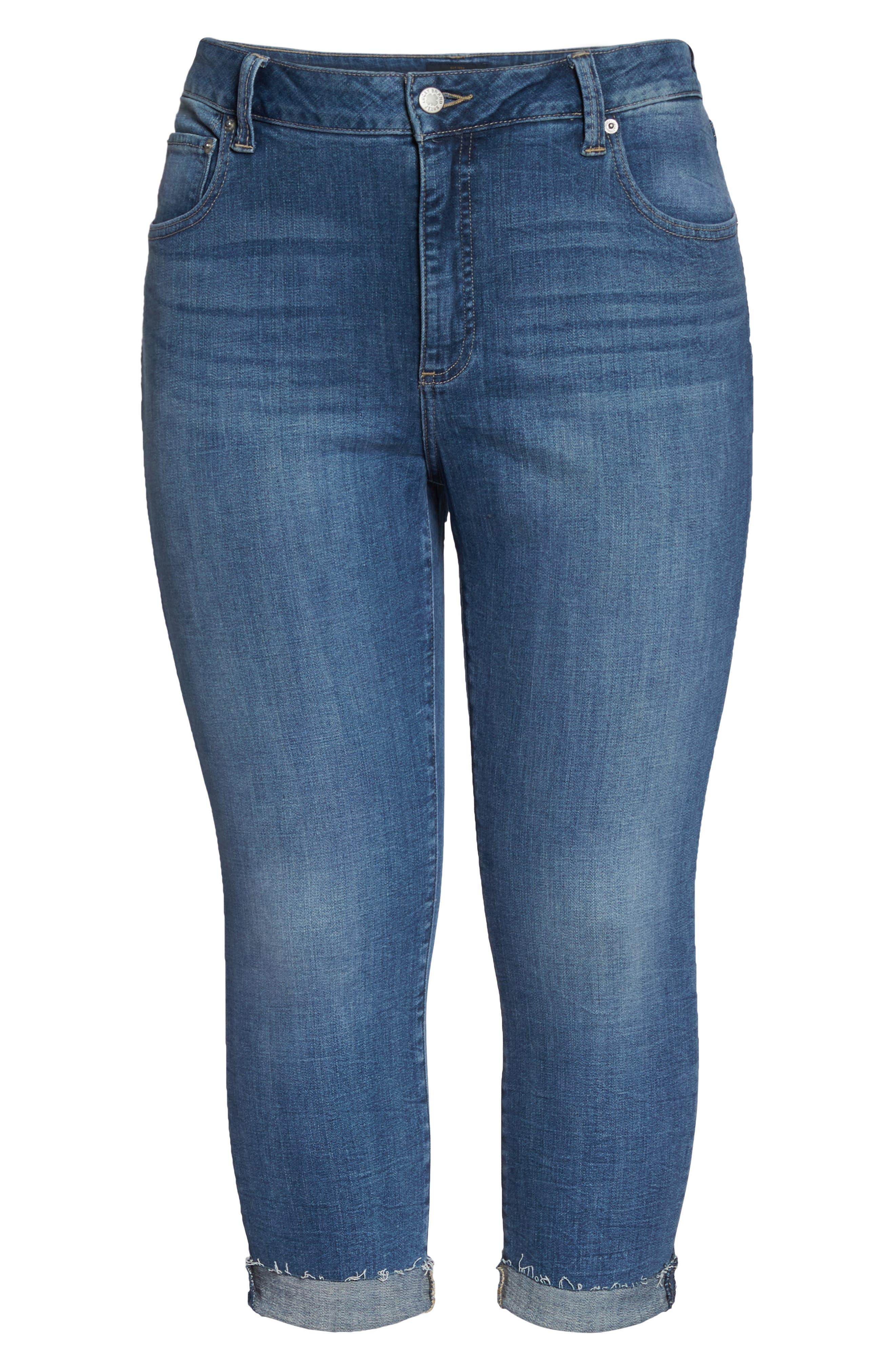 Emma Crop Skinny Jeans,                             Alternate thumbnail 7, color,                             Sunbeam-P