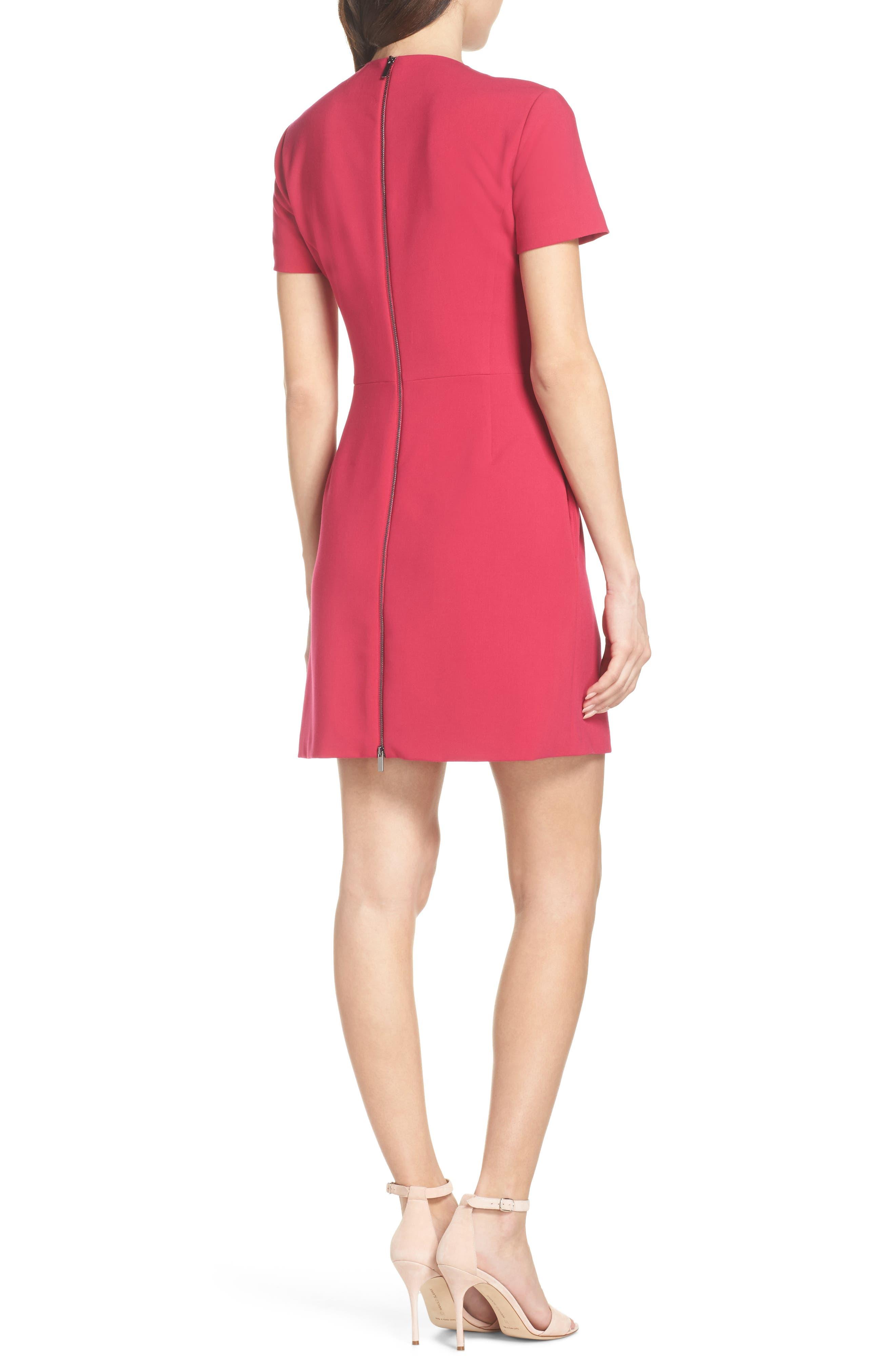 Whisper Light Sheath Dress,                             Alternate thumbnail 2, color,                             Magenta