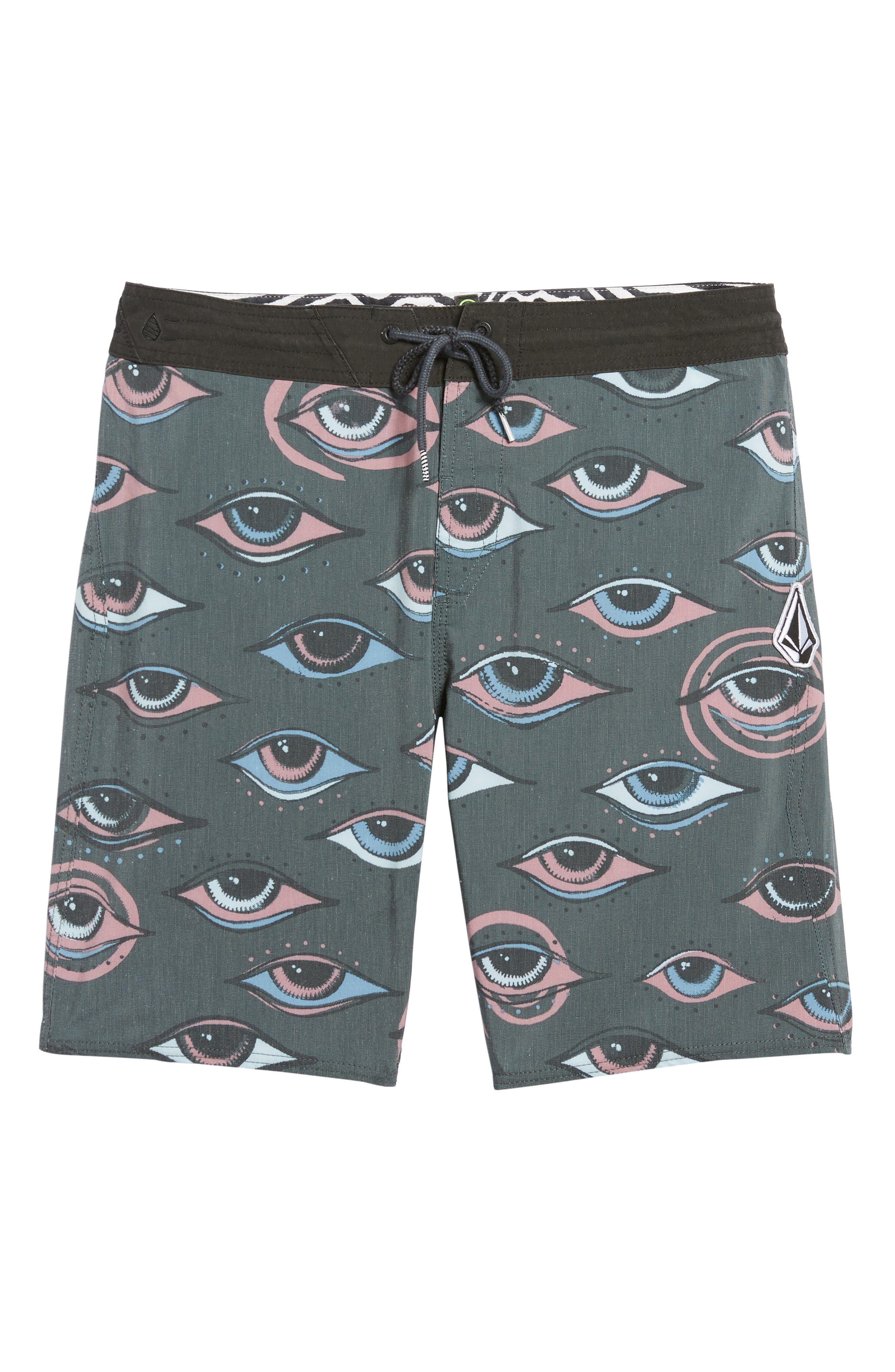 Burch Stoney Board Shorts,                             Alternate thumbnail 5, color,                             Stealth