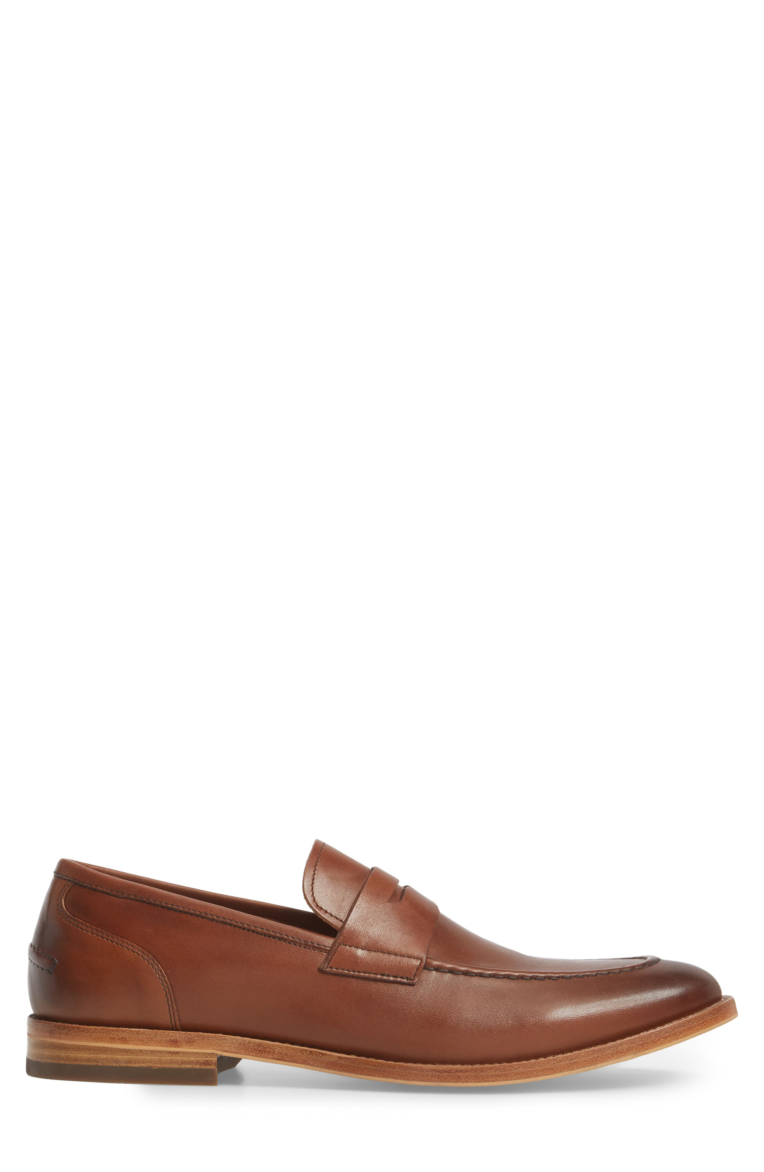 Lucas Loafer,                             Alternate thumbnail 3, color,                             Luggage Leather