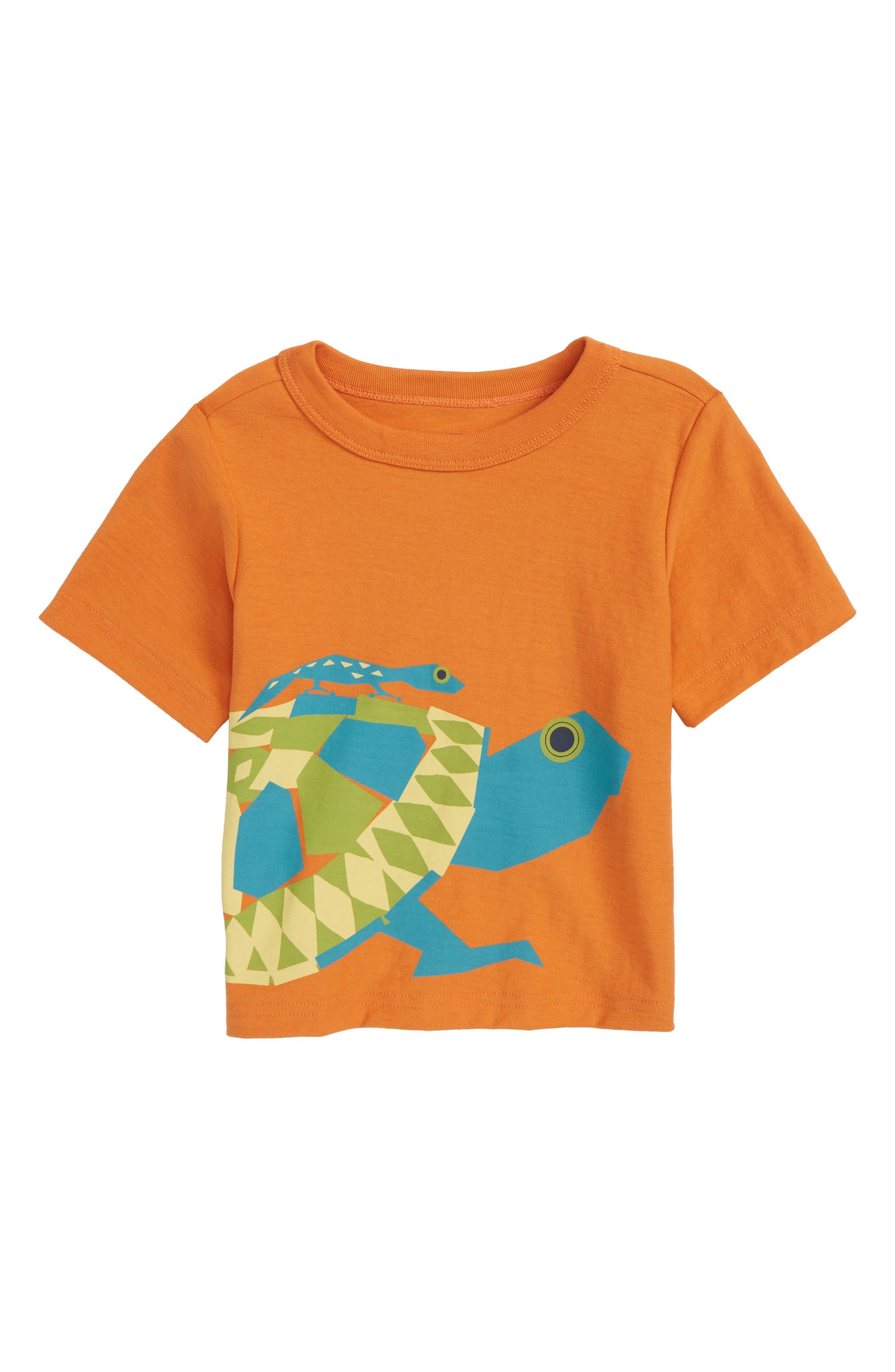 Tortoise T-Shirt,                             Main thumbnail 1, color,                             Papaya