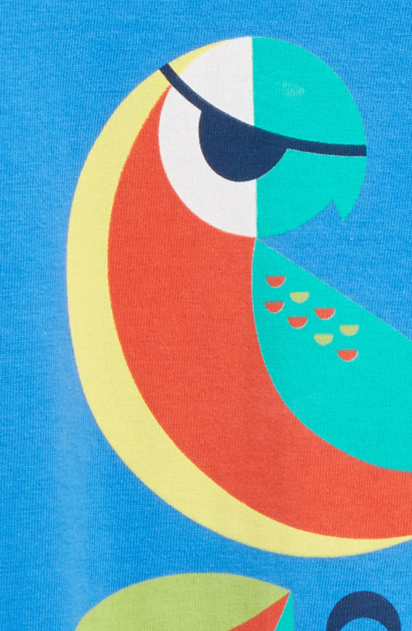 Parrot Romper,                             Alternate thumbnail 2, color,                             Palace Blue