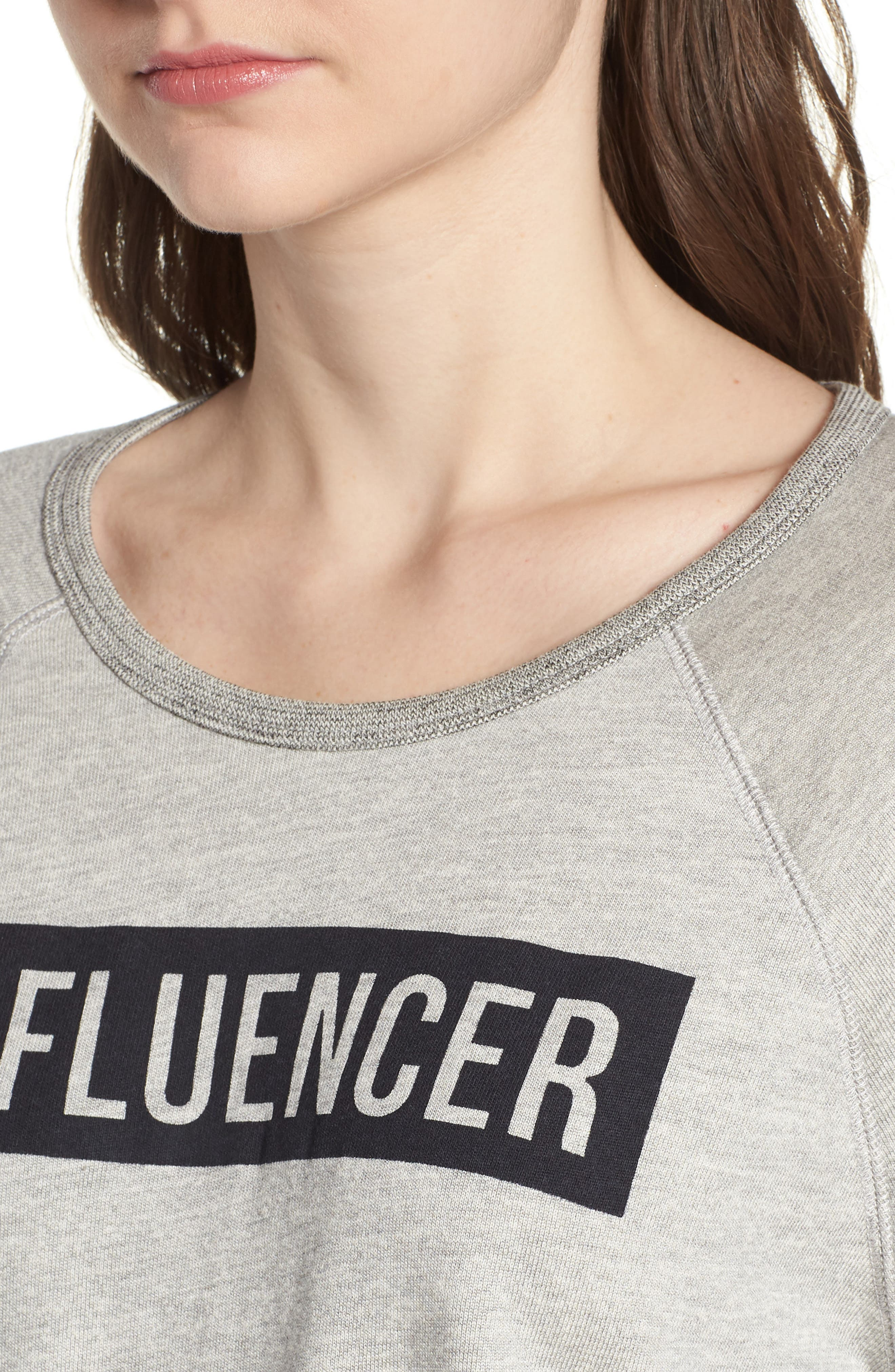 Influencer Sweatshirt,                             Alternate thumbnail 4, color,                             Heather Grey