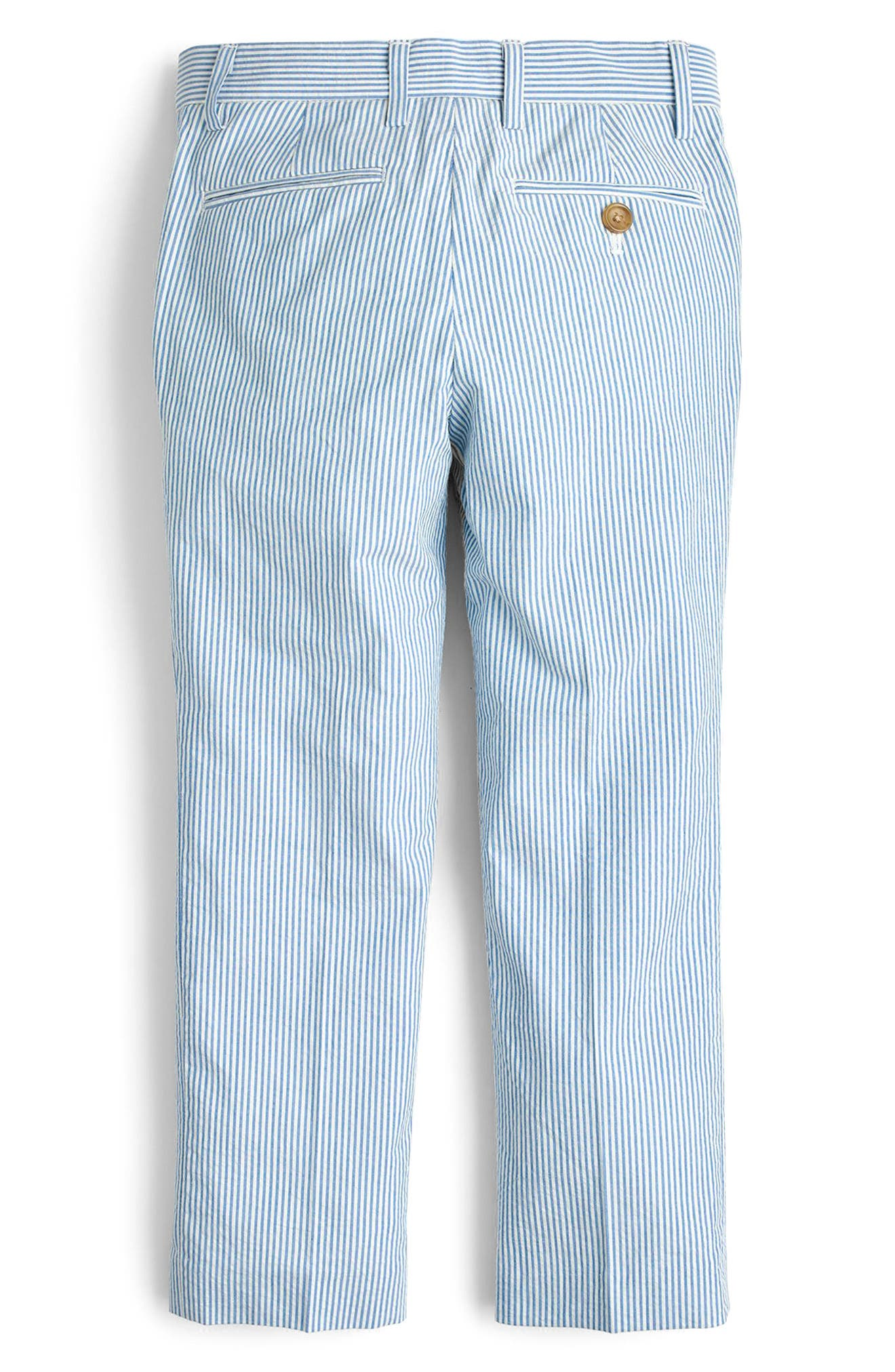 Ludlow Seersucker Pants,                             Alternate thumbnail 2, color,                             Crisp Azure White