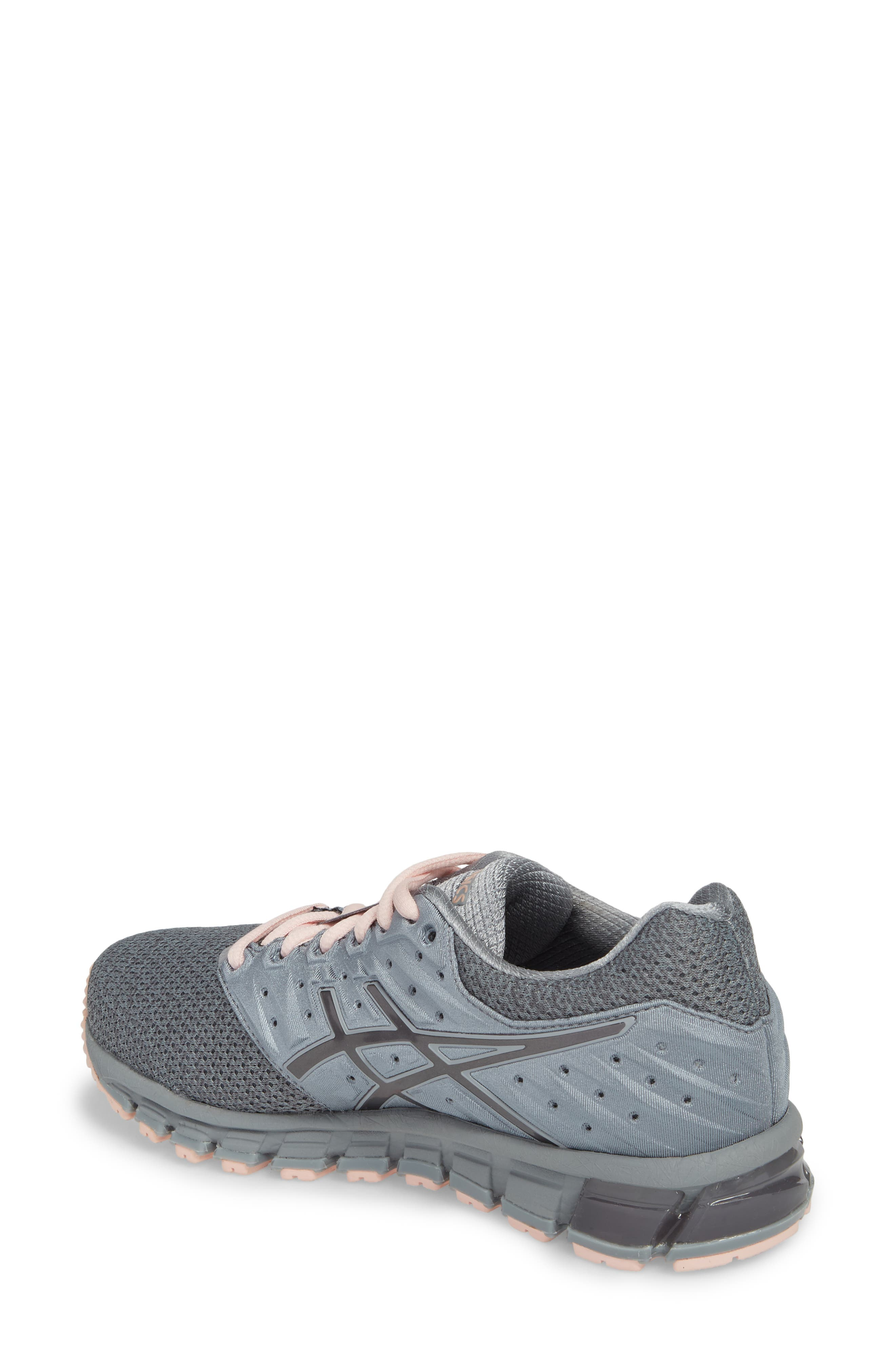 'GEL-Quantum 180 2' Running Shoe,                             Alternate thumbnail 2, color,                             Stone Grey/ Carbon/ Pink