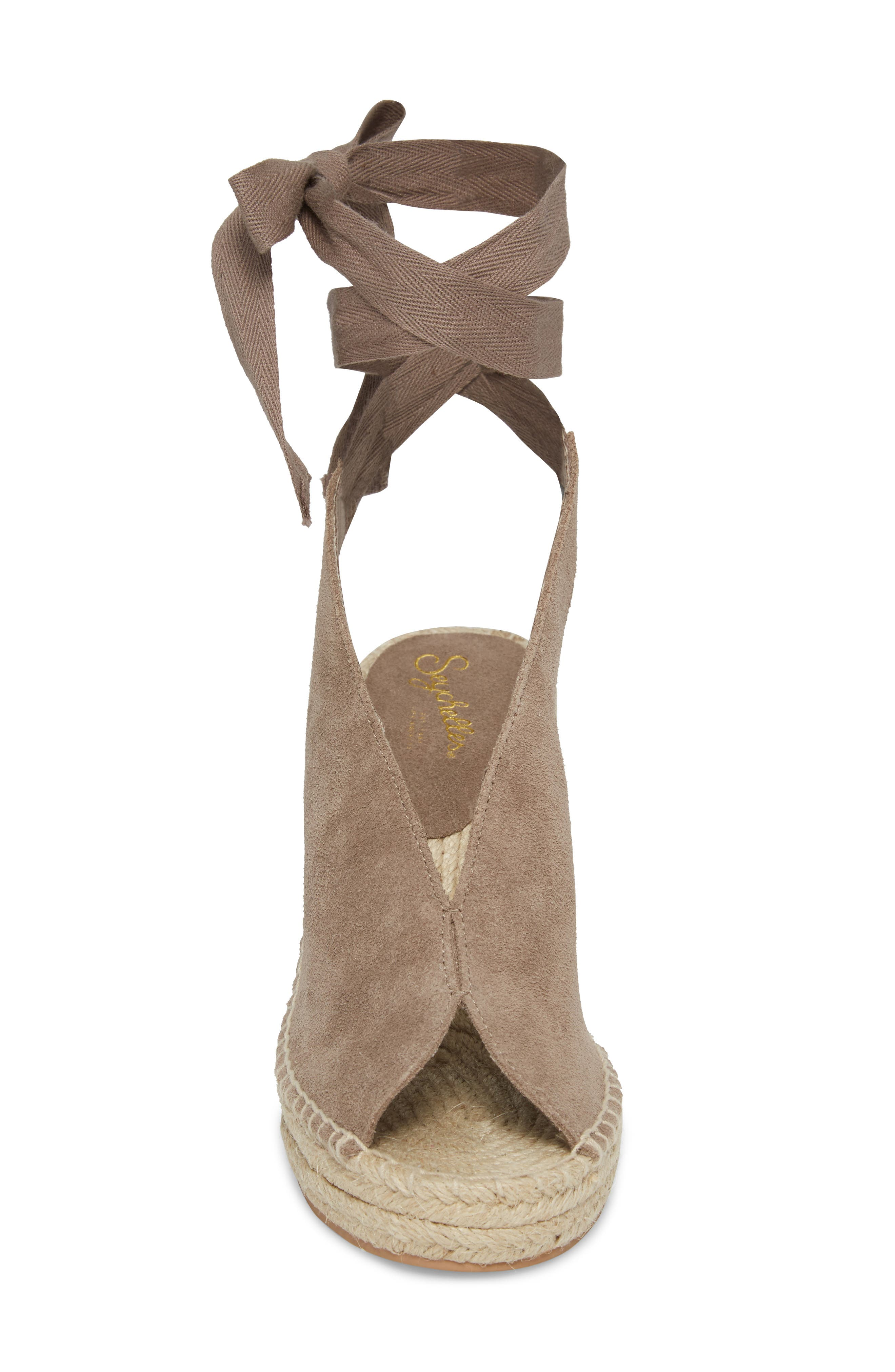 Interrelated Espadrille Wedge Sandal,                             Alternate thumbnail 5, color,                             Taupe Suede