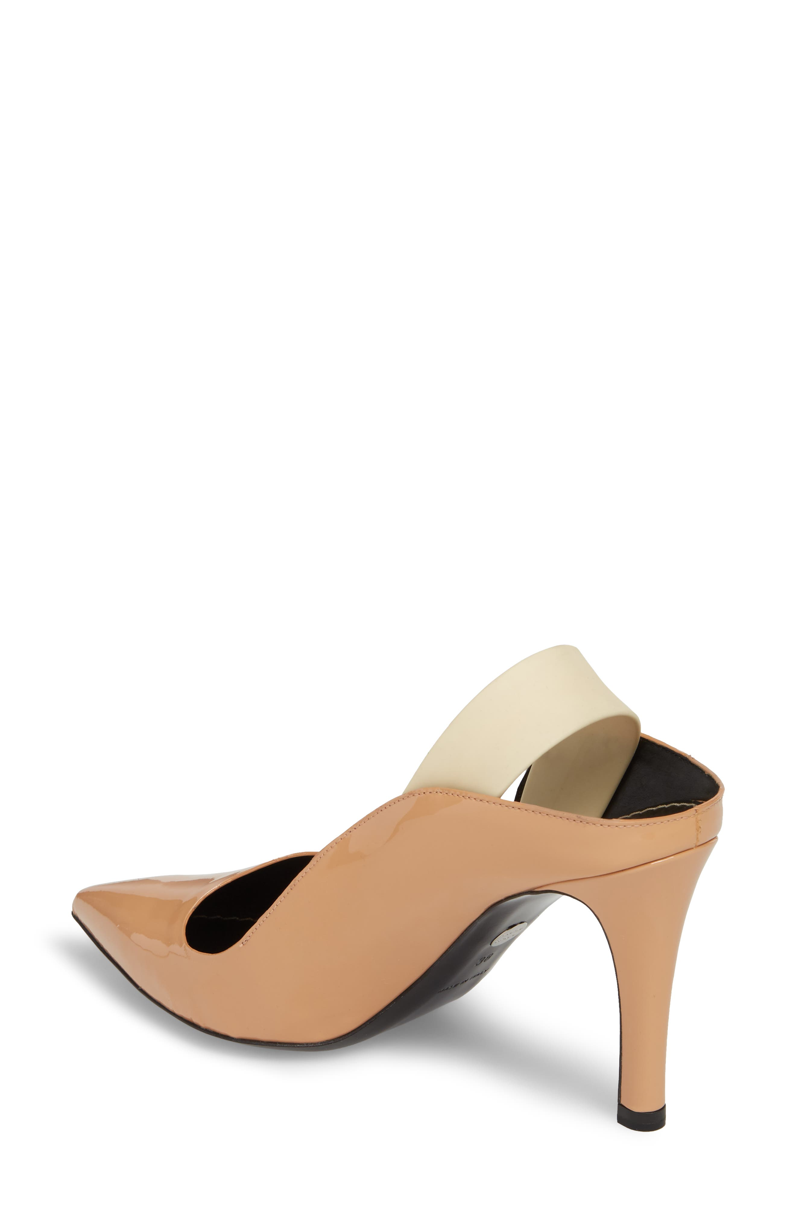 Wave Slingback Pump,                             Alternate thumbnail 2, color,                             Nude