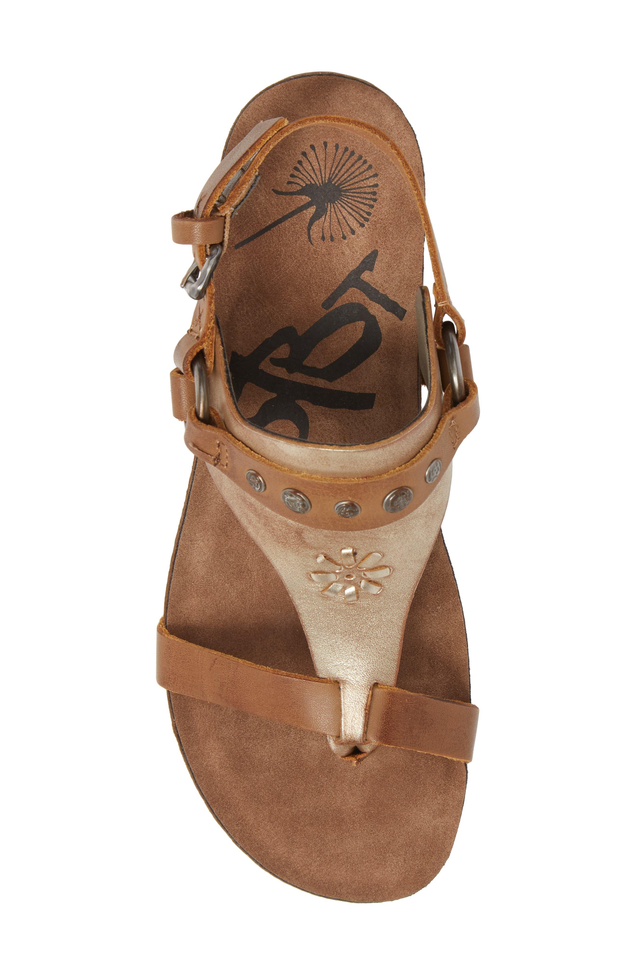 Maverick Wedge Sandal,                             Alternate thumbnail 5, color,                             New Taupe Leather